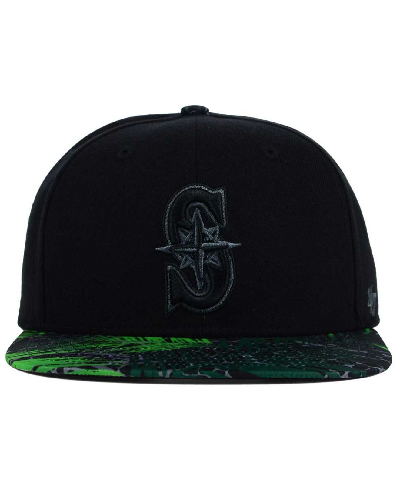 newest d91ad 1c7a2 47 Brand Seattle Mariners Tonal Flagler Snapback Cap in Green for ...