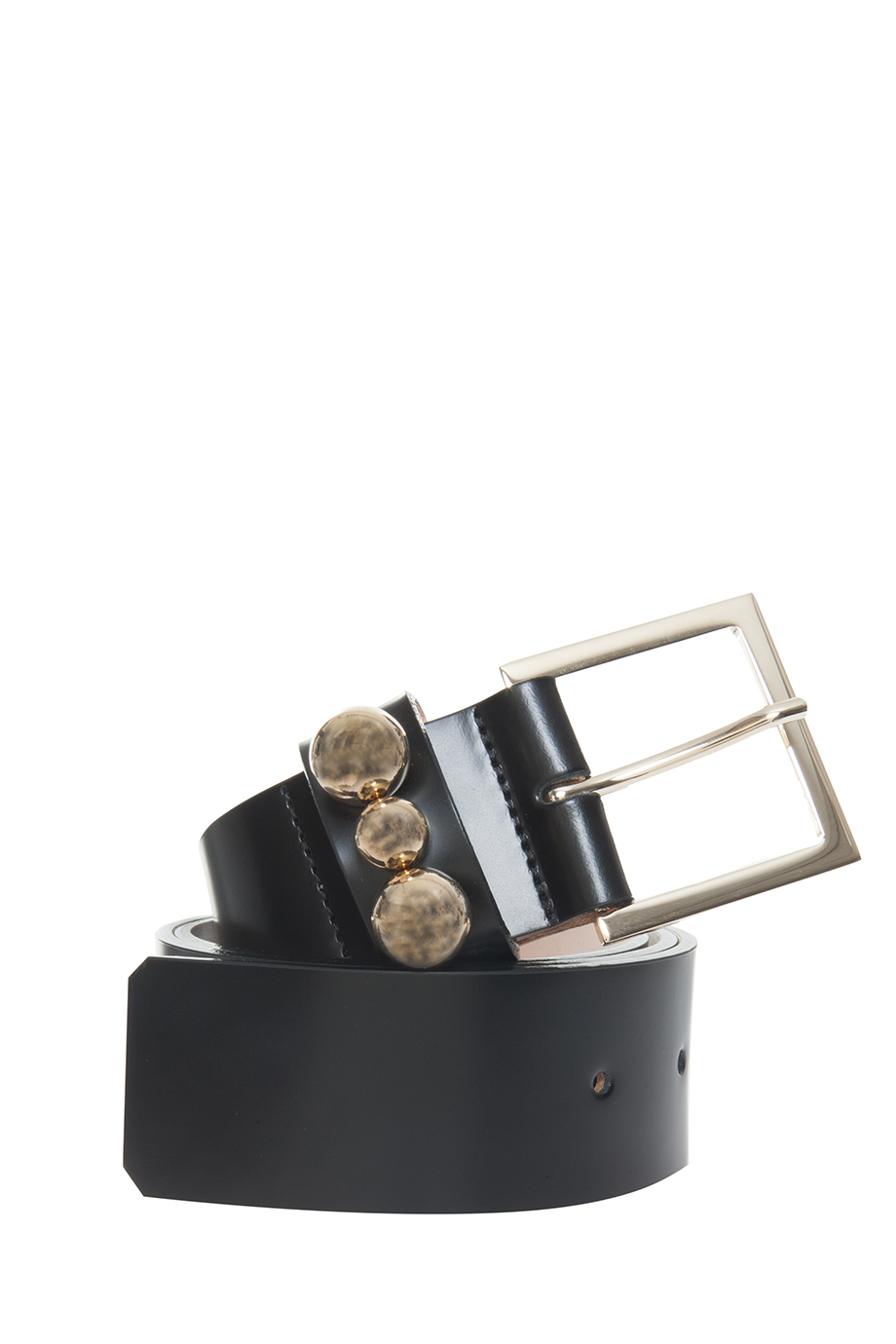 paul joe rivet leather belt in black lyst
