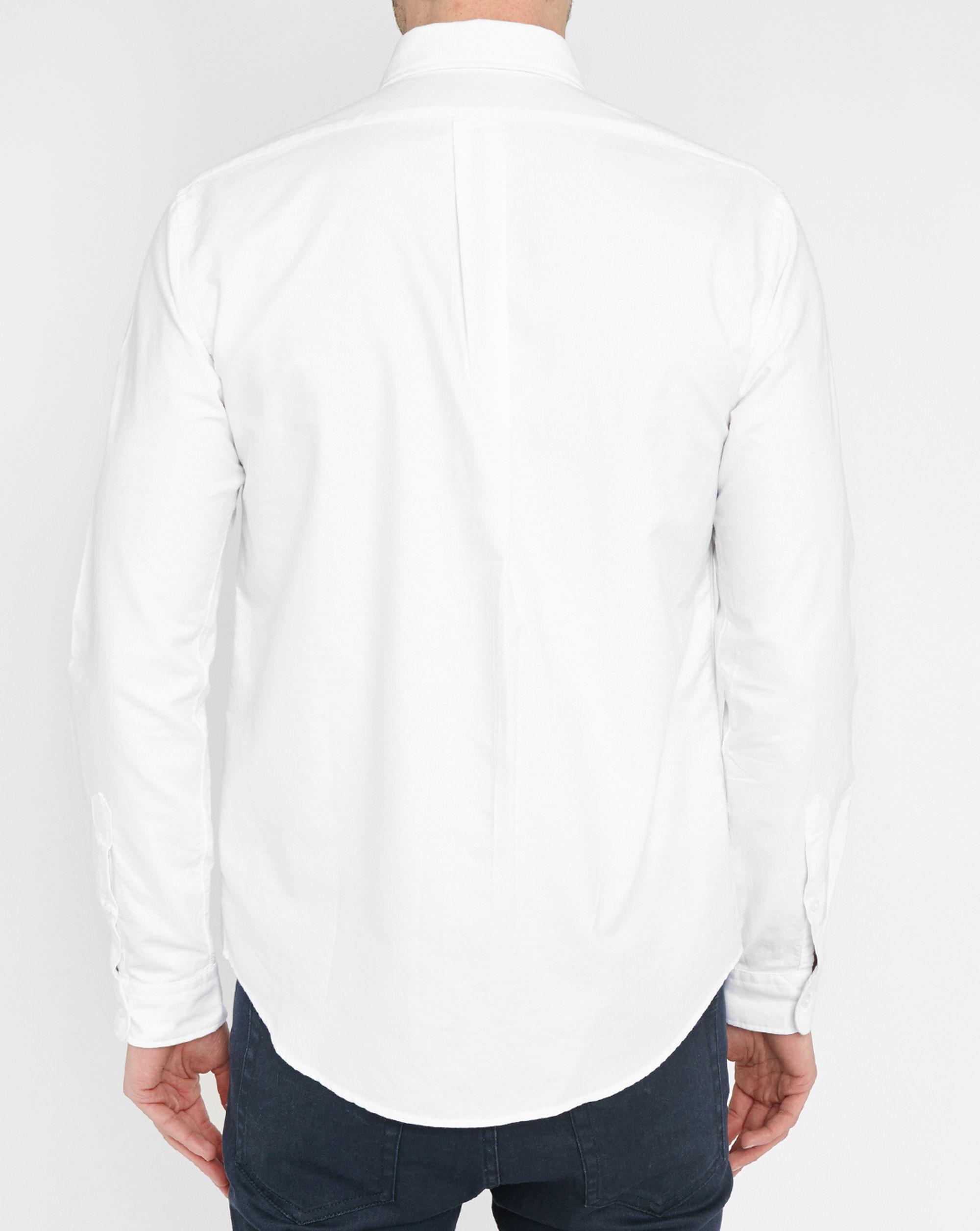 Kenzo white button down collar tiger logo oxford shirt in for White button down oxford shirt