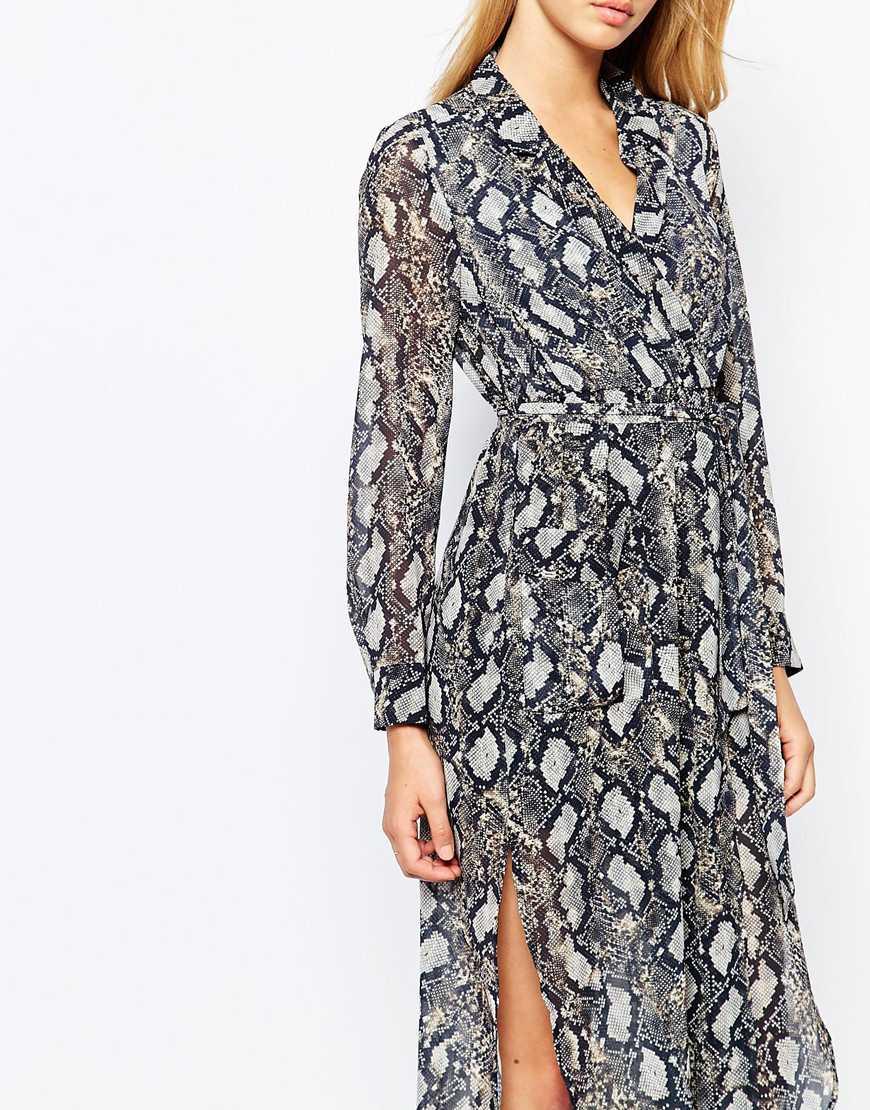 3911667c864 Bardot Snake Print Midi Tunic Dress - Lyst