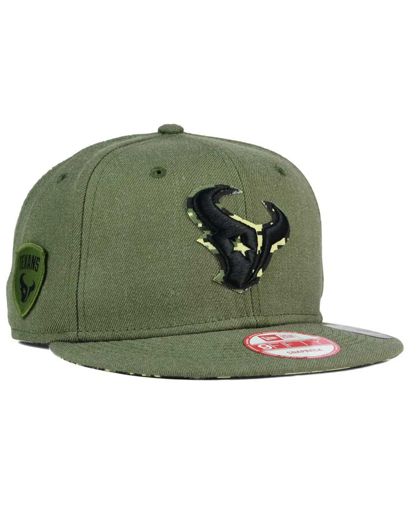 reputable site 5c6aa d3099 ... camo low profile 59fifty fitted hat a7f38 b678e  low price lyst ktz houston  texans sgt patch 9fifty snapback cap in green for men cae6b