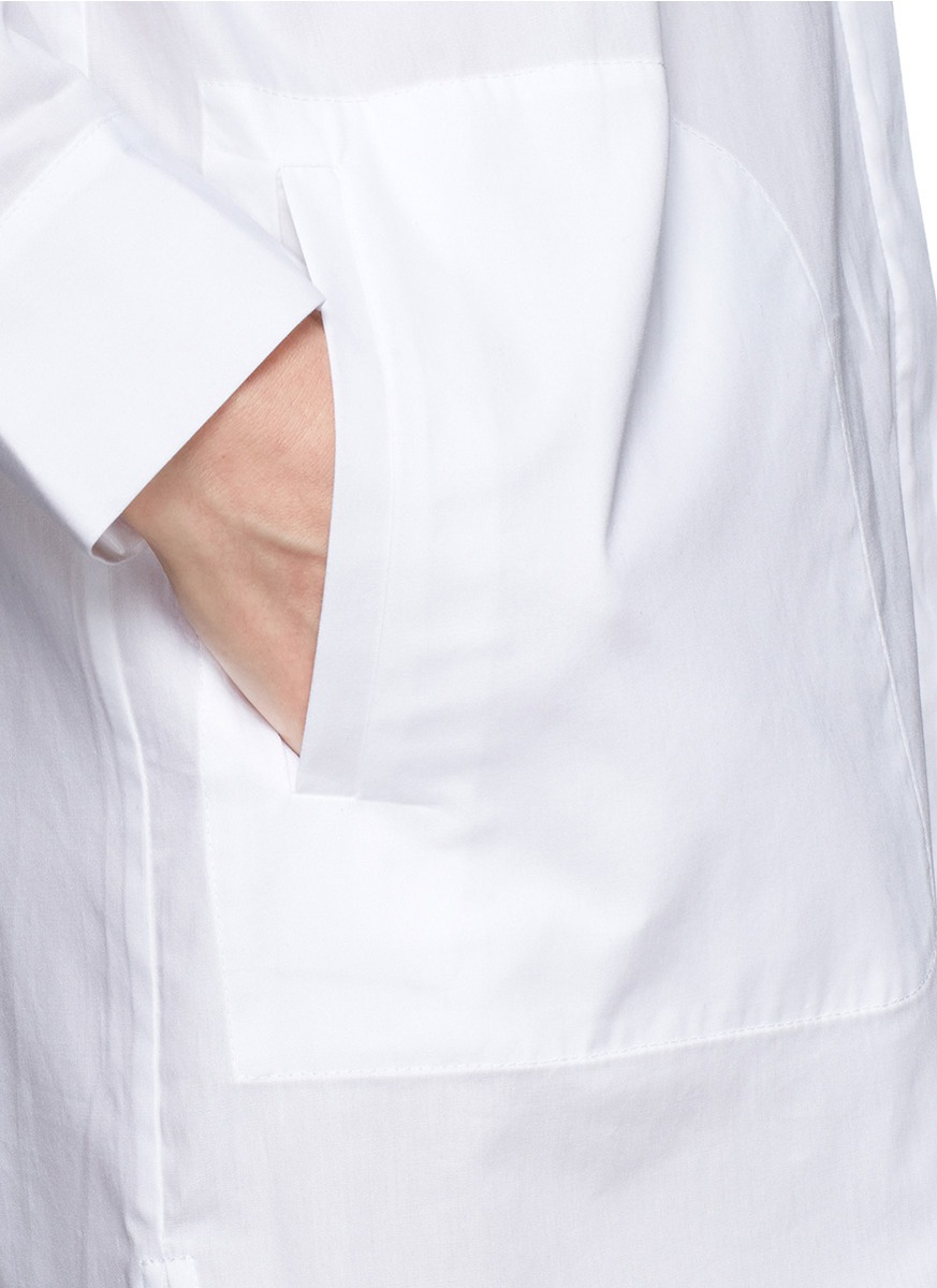 Lyst t by alexander wang cotton poplin shirt dress in white for What is a poplin shirt