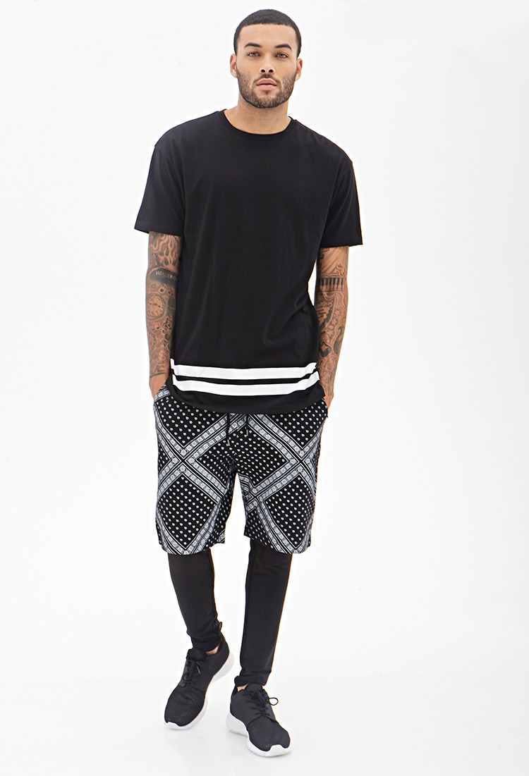 Forever 21 Bandana Print Shorts in Black for Men | Lyst