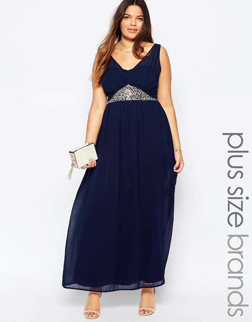 Blue Maxi Dress Plus Size - Dress Foto and Picture
