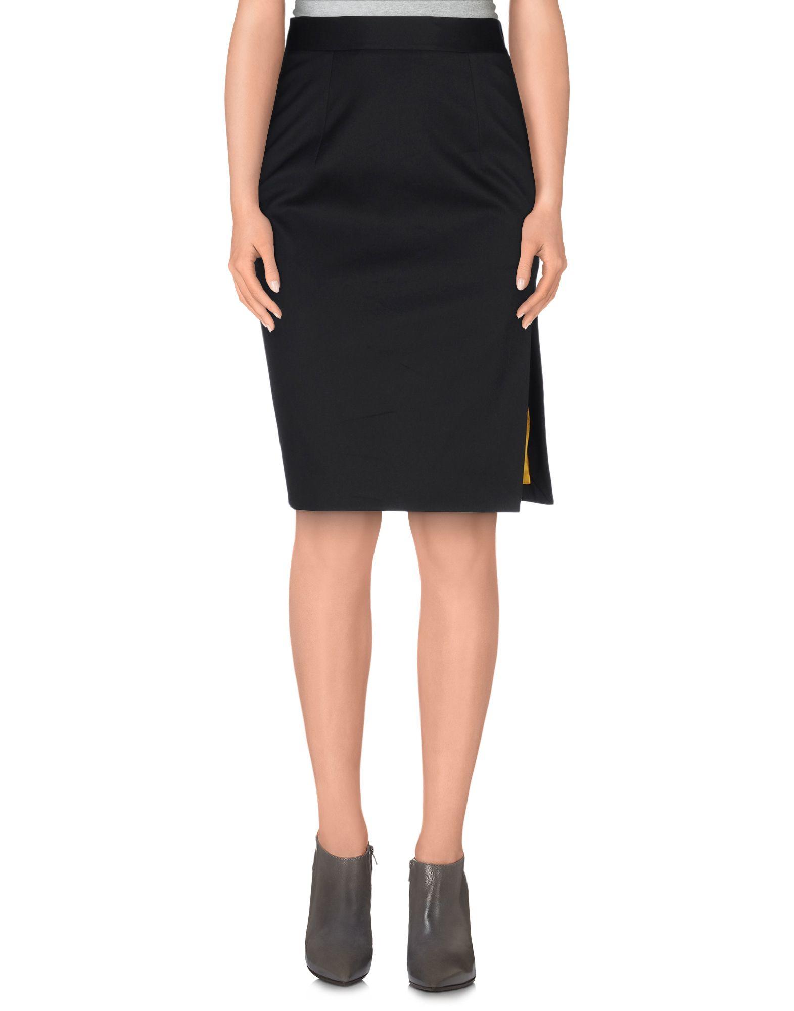 dsquared 178 knee length skirt in black lyst