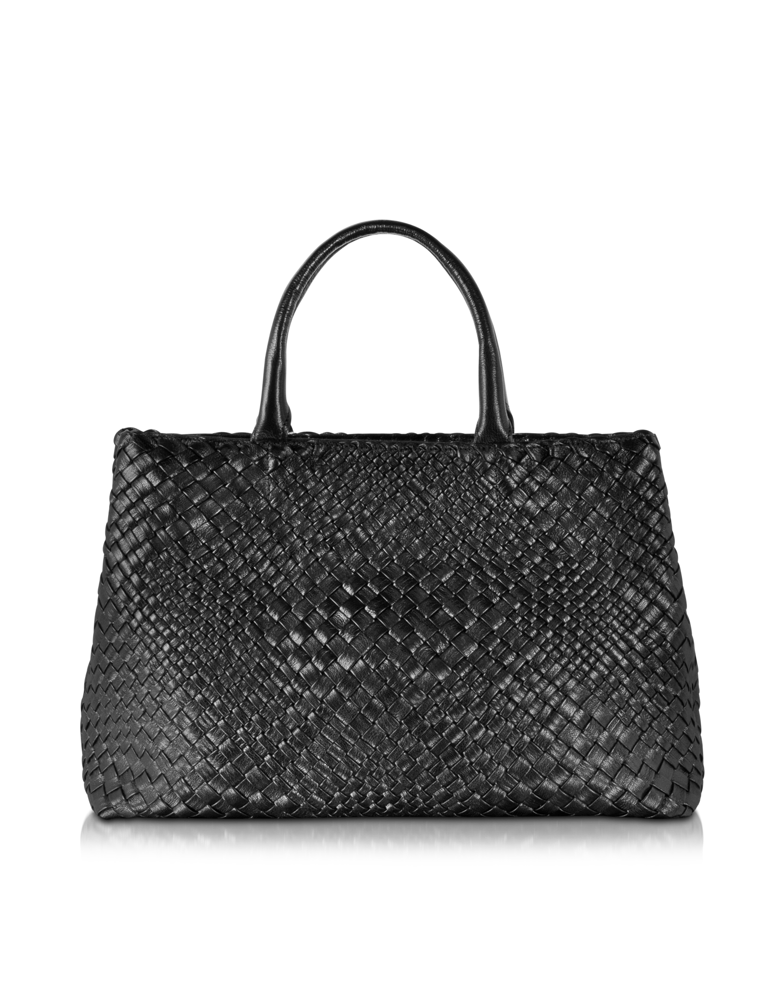 Lyst Ghibli Woven Leather Tote In Black