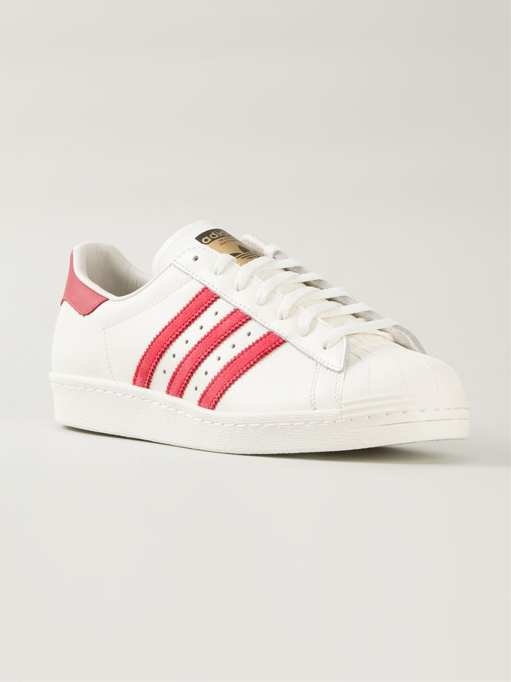 adidas originals superstar low top sneakers in white lyst. Black Bedroom Furniture Sets. Home Design Ideas
