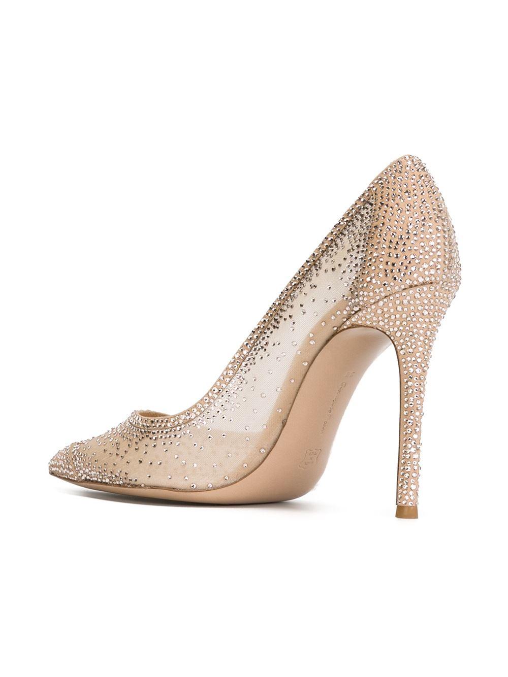 Nude Crystal Heels