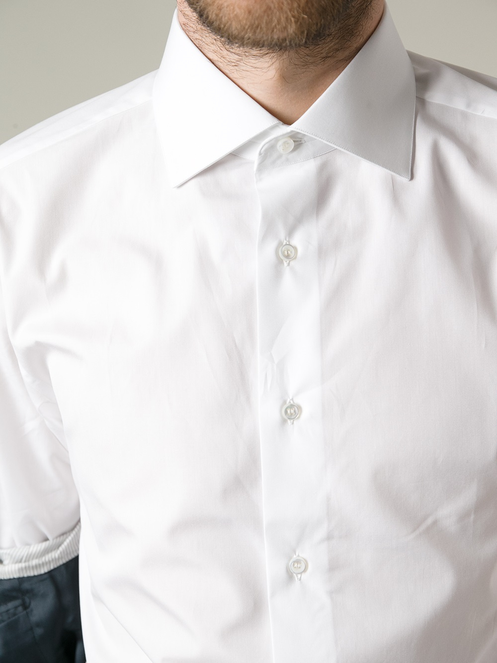 Brioni Classic Shirt In White For Men Lyst