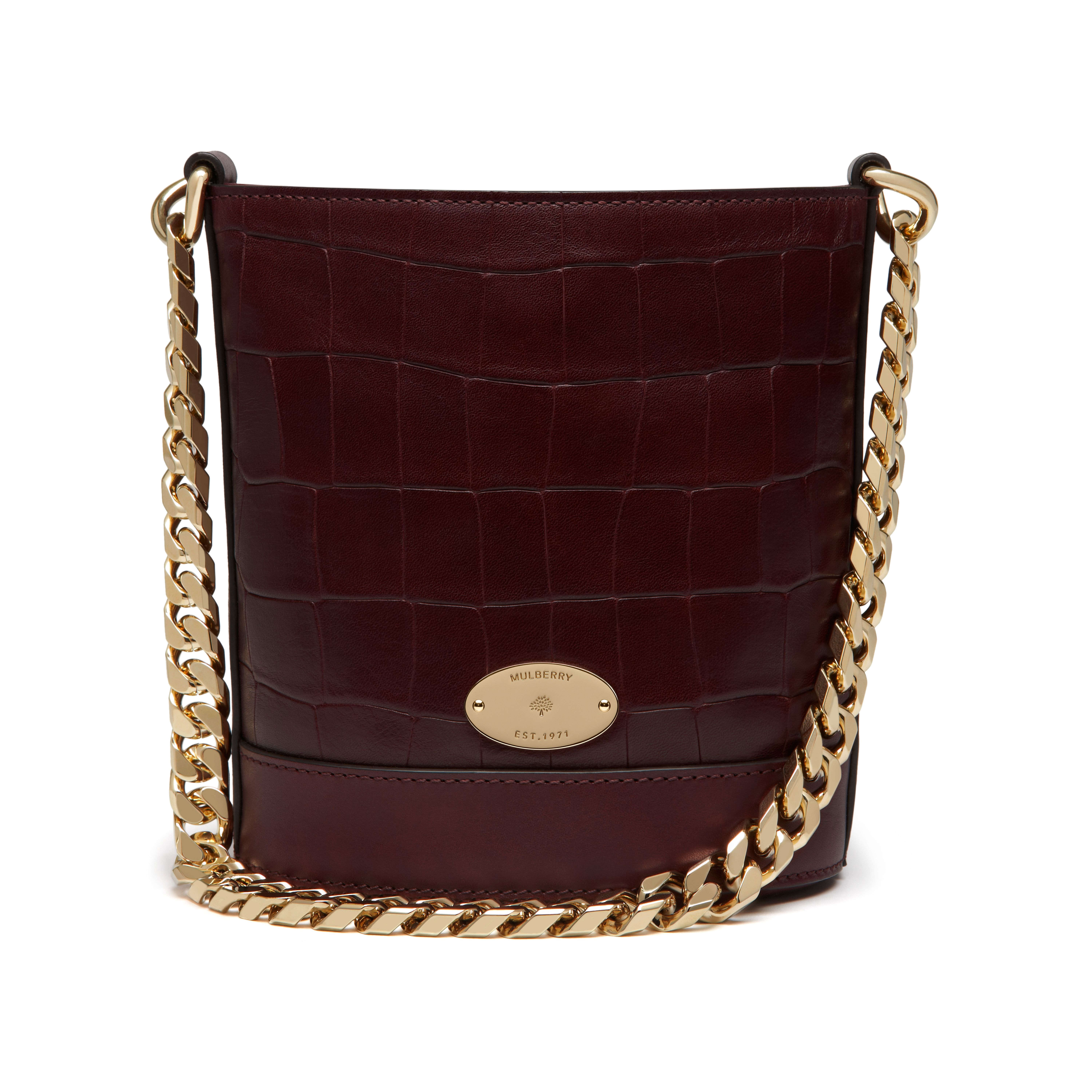 31b1514430 Mulberry Mini Jamie In Red Lyst. New Edition 2016 Mulberry Handbags  Collection Outlet Uk Kite Pouch Oxblood Deep Embossed Croc Print