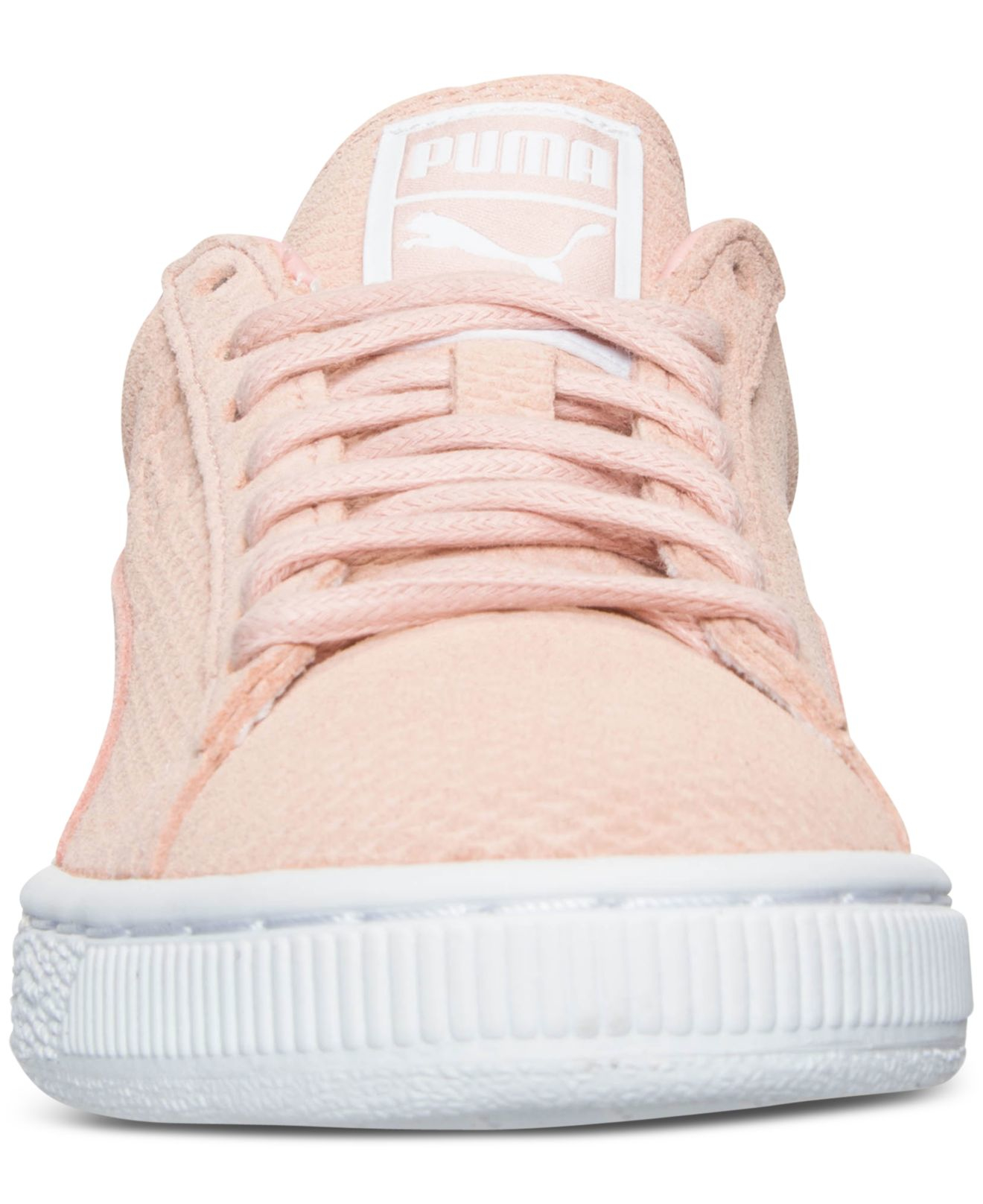 Lyst - PUMA Women s Suede Classic Winterized Lo Casual Sneakers From Finish  Line in Pink 005e19ed0