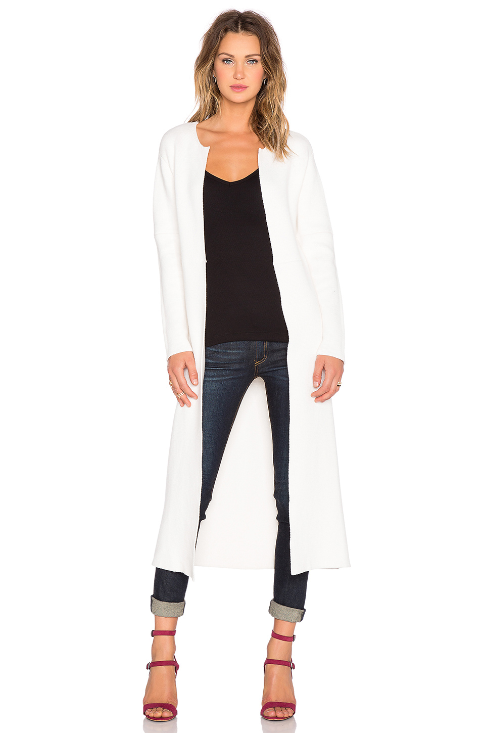 Kathryn mccarron Matilda Long Cardigan in White | Lyst