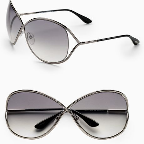 tom ford miranda oversized round sunglasses in silver gunmetal. Cars Review. Best American Auto & Cars Review