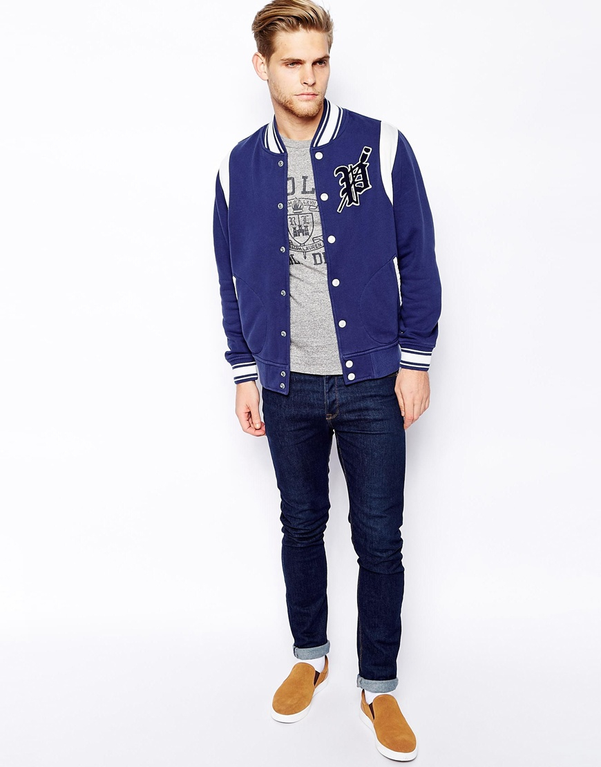 lyst  polo ralph lauren varsity sweat in blue for men