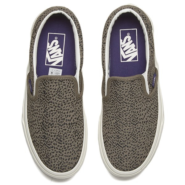 8be40abd17 Vans Women s Classic Slip-on Cheetah Suede Trainers in Gray - Lyst