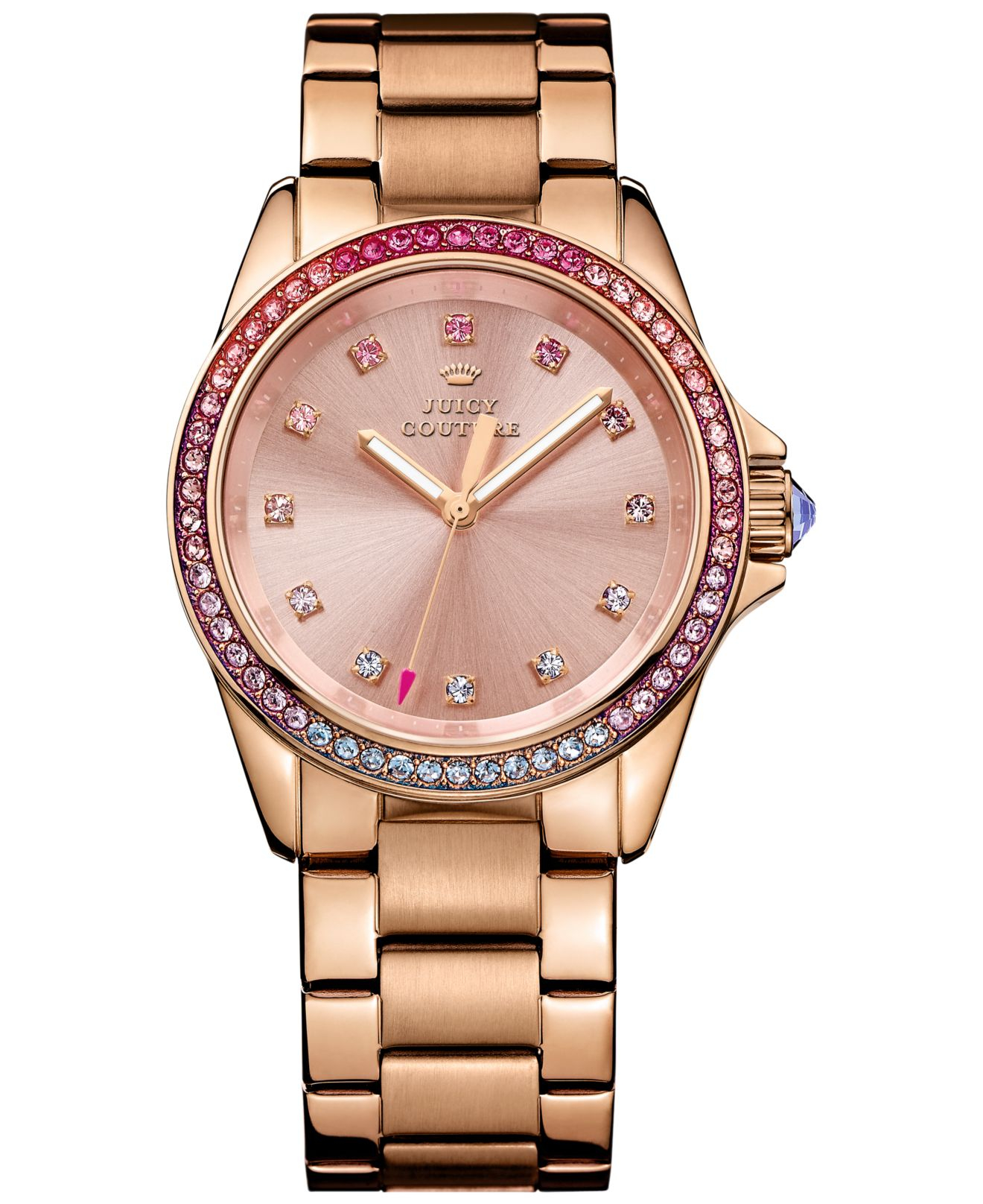 e370262716d Lyst - Juicy Couture Women s Stella Rose Gold-tone Stainless Steel ...