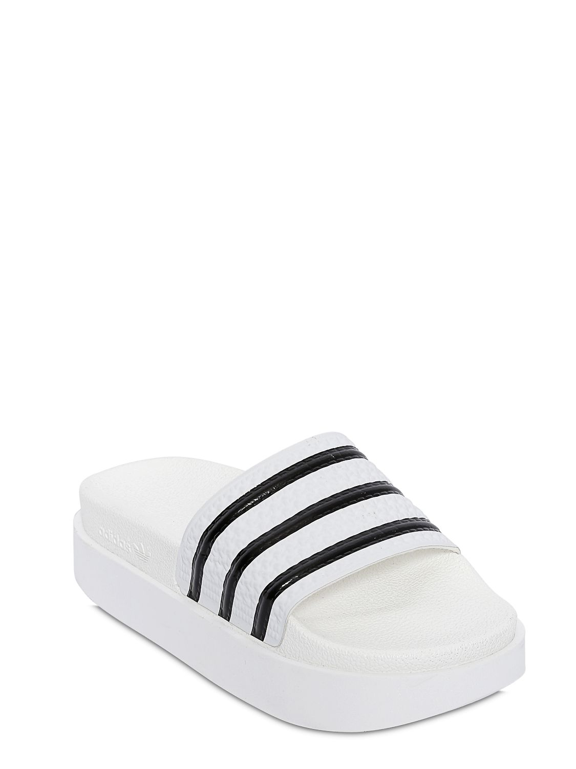 5b633a340ba052 Lyst - adidas Originals Adilette Bold Rubber Slides in White