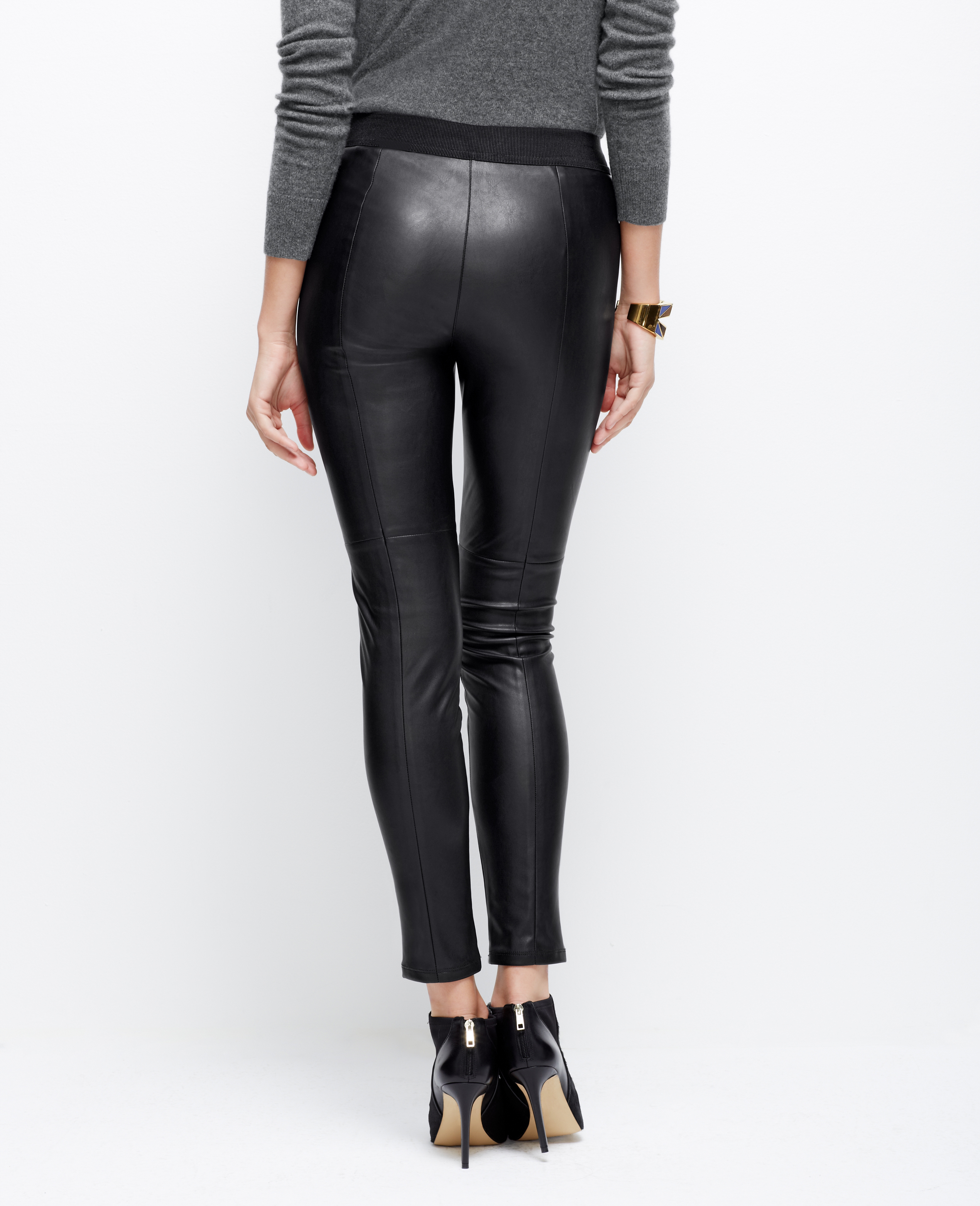 Petite Leather Leggings