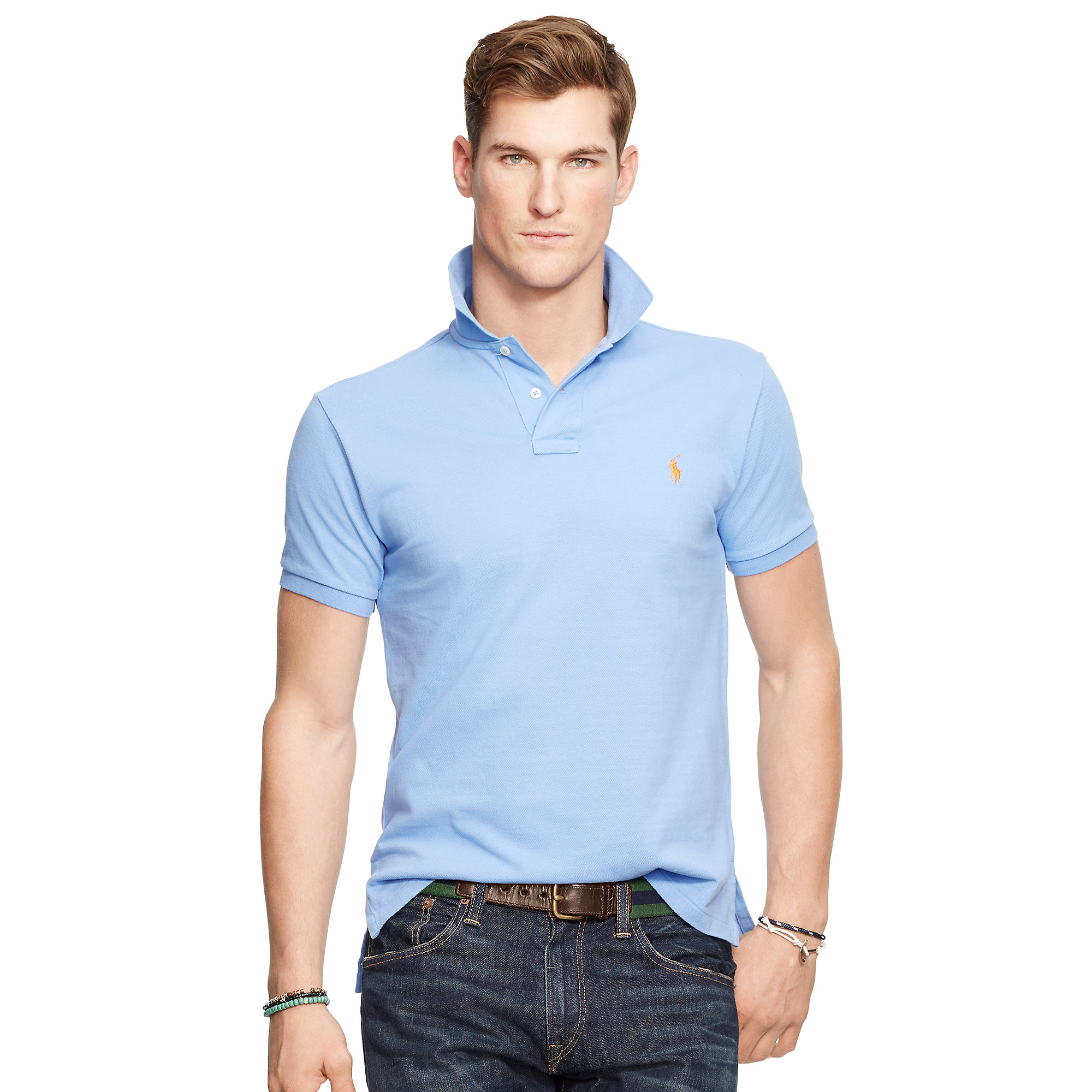 5a9e5ca0 Polo Ralph Lauren Classic-fit Mesh Polo Shirt in Blue for Men - Lyst