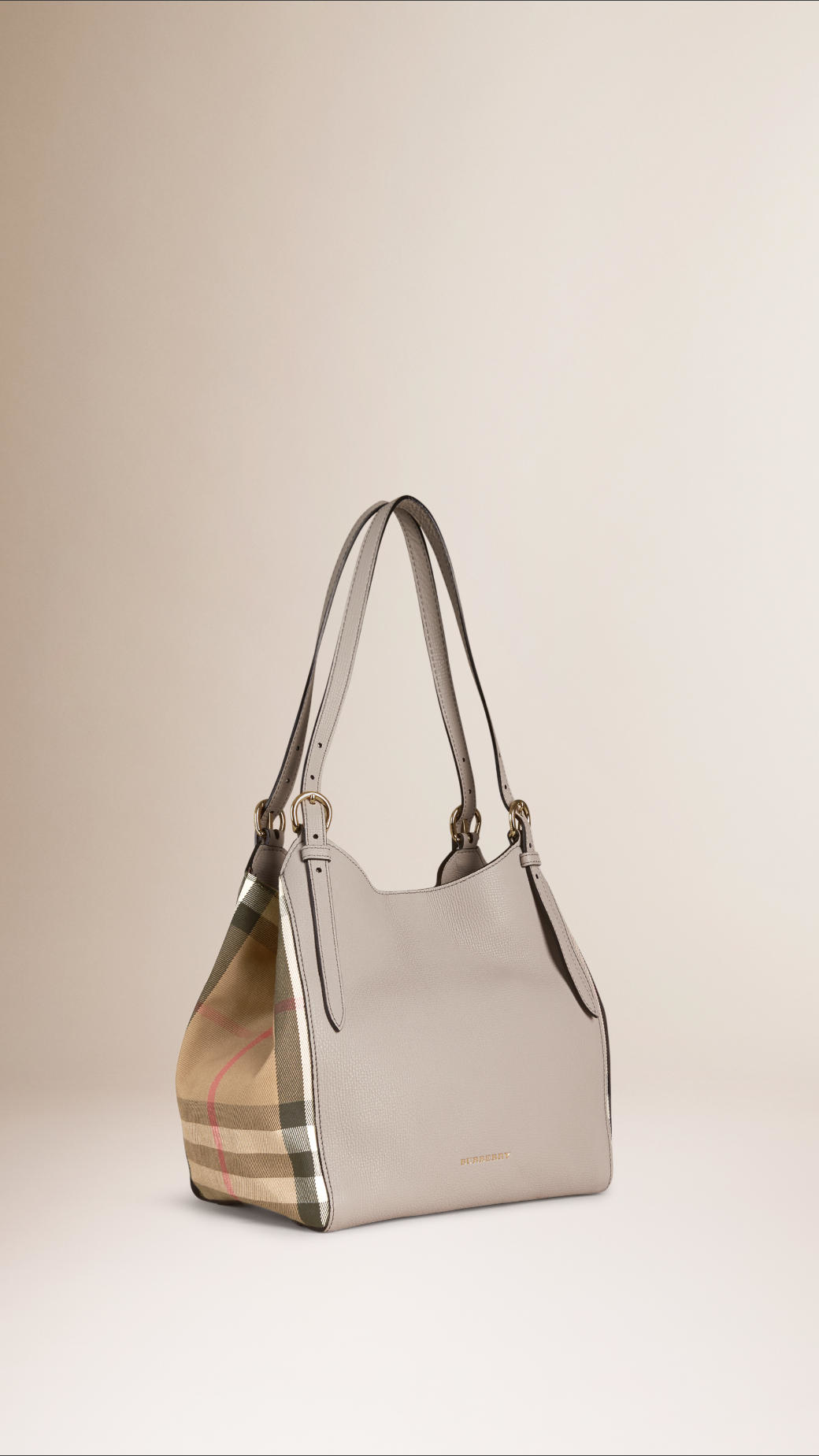 989f891dddb1 Burberry The Small Canter In Leather And House Check in Gray - Lyst