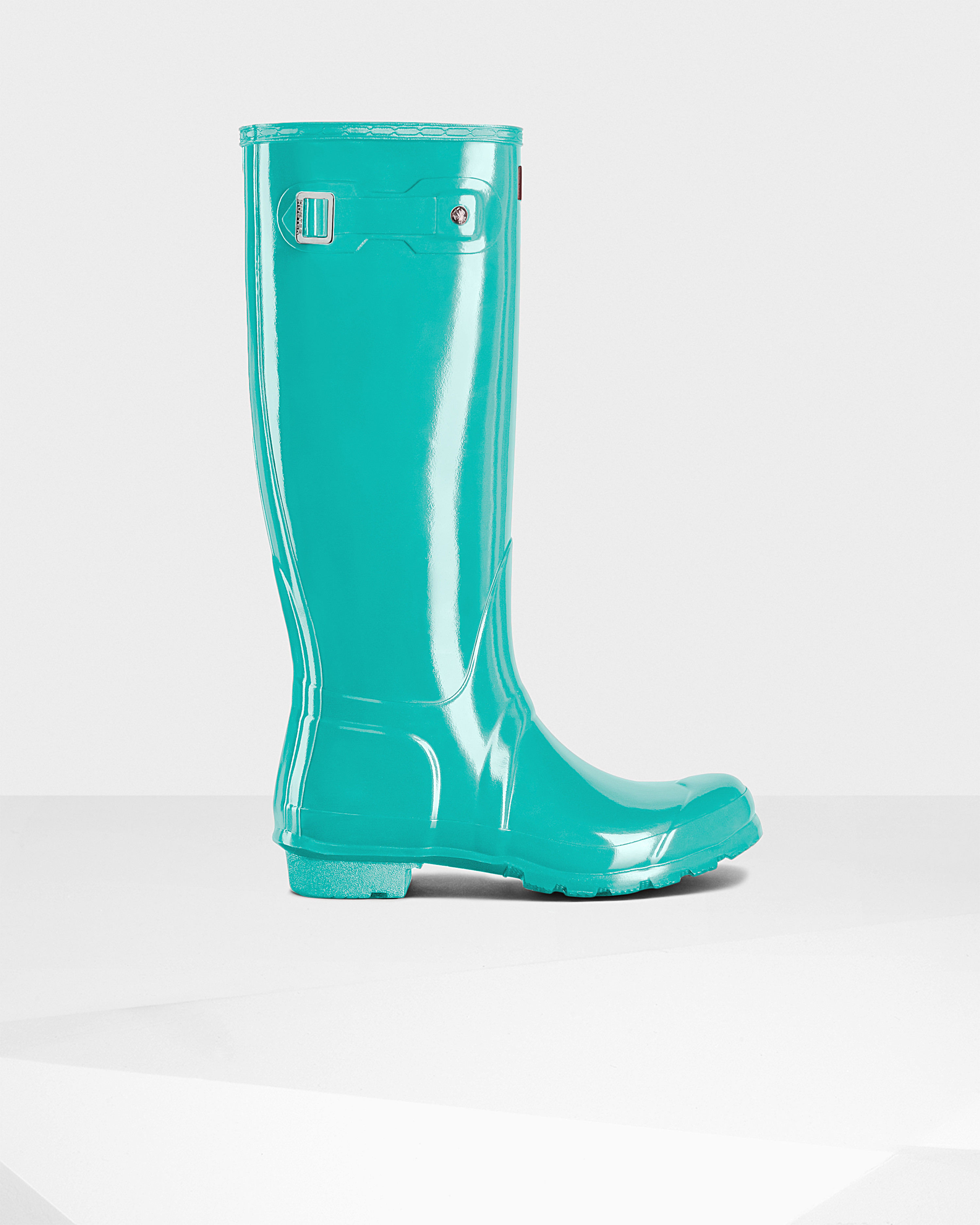 874f6194938a23 Lyst - HUNTER Women s Original Tall Gloss Rain Boots in Green