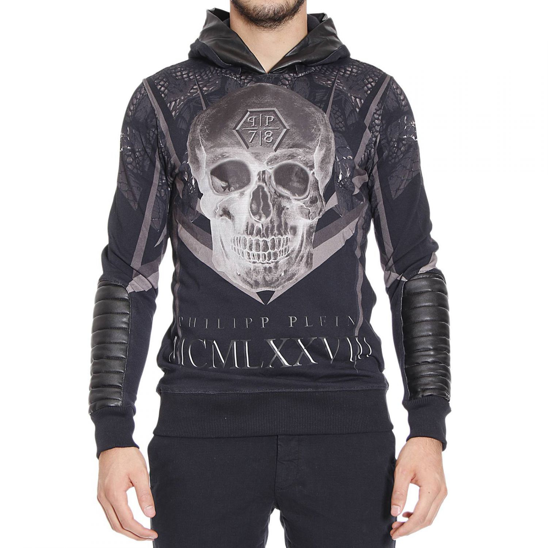 philipp plein sweater man in black for men lyst. Black Bedroom Furniture Sets. Home Design Ideas