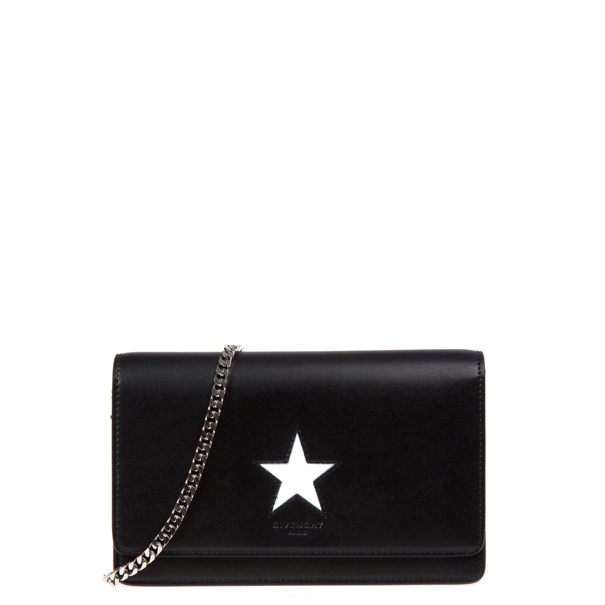 d94fb73fa8ad Lyst - Givenchy Pandora-chain Mini Clutch in Black