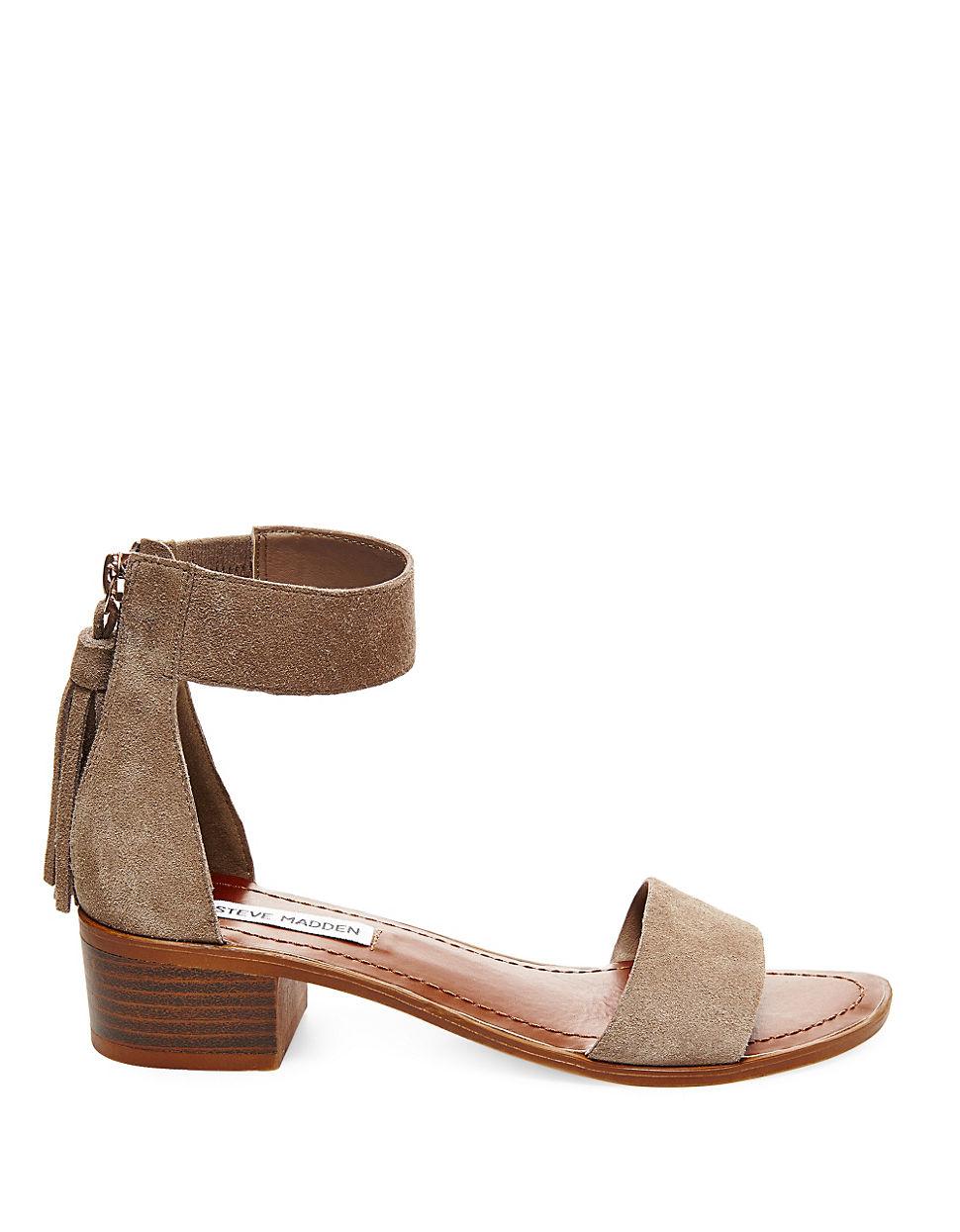 lyst steve madden darcie suede sandals. Black Bedroom Furniture Sets. Home Design Ideas