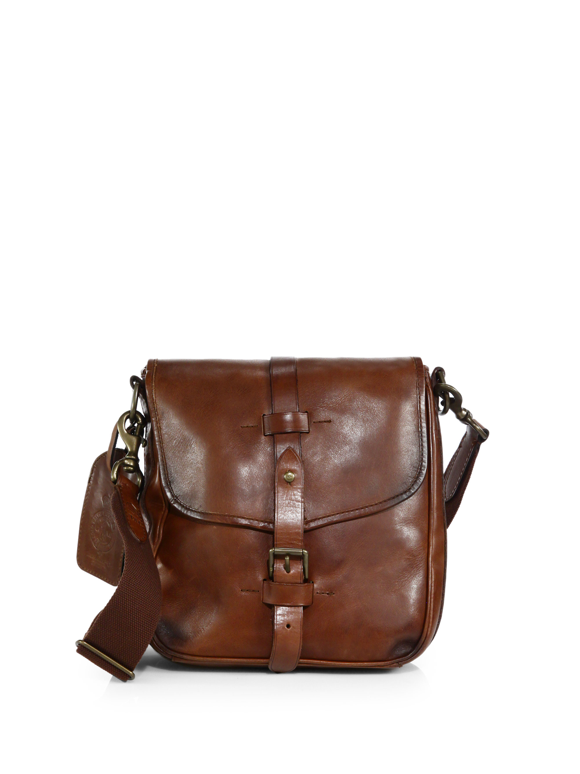 00943e713b Lyst - Polo Ralph Lauren Leather Camera Bag in Brown for Men