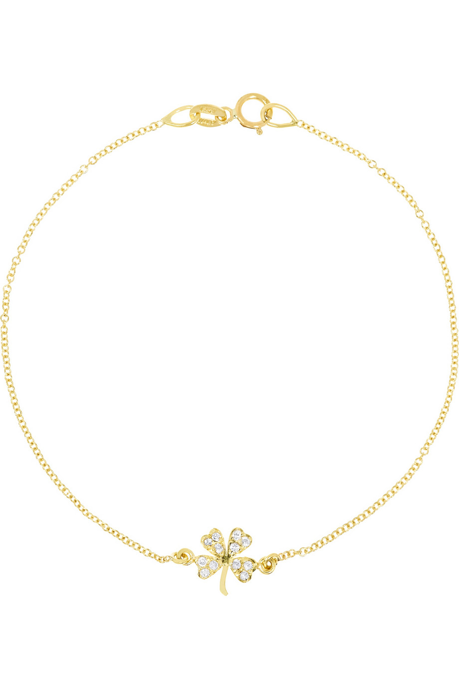 Brand new Lyst - Jennifer Meyer 18-Karat Gold Diamond Four-Leaf Clover  DG88