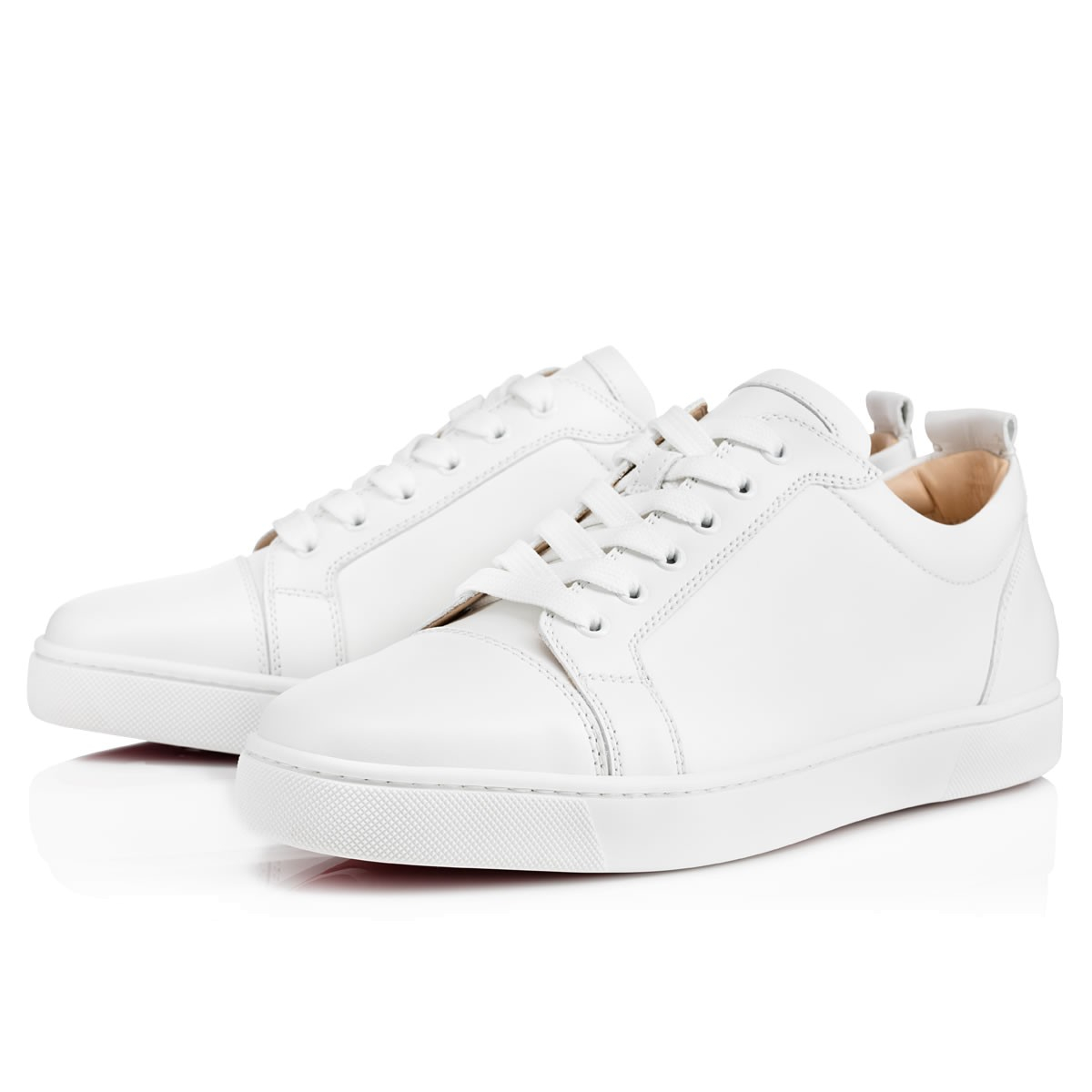 christian louboutin louis junior leather low top sneakers. Black Bedroom Furniture Sets. Home Design Ideas