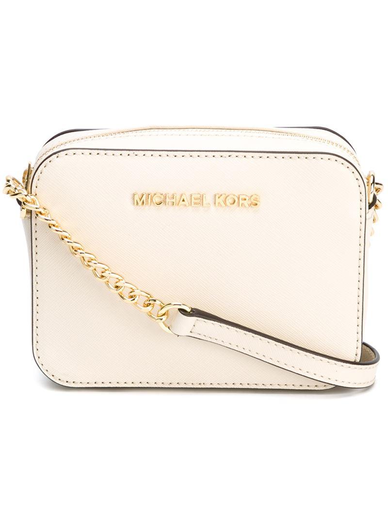 3ff0e4a9c05 MICHAEL Michael Kors Mini 'jet Set Travel' Crossbody Bag in Natural ...