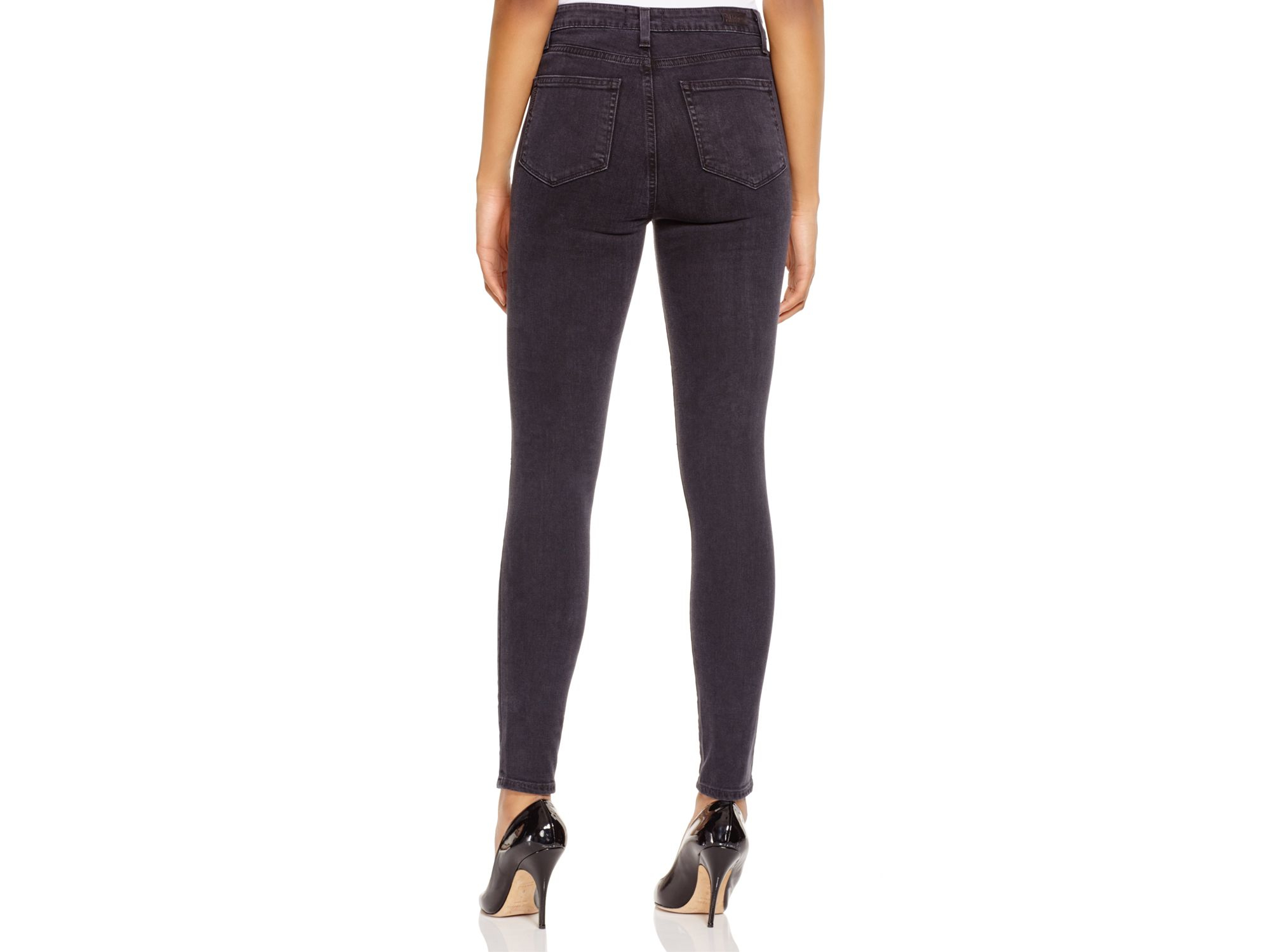 Paige Margot Ultra Skinny Jeans In Joannie Black in Black | Lyst