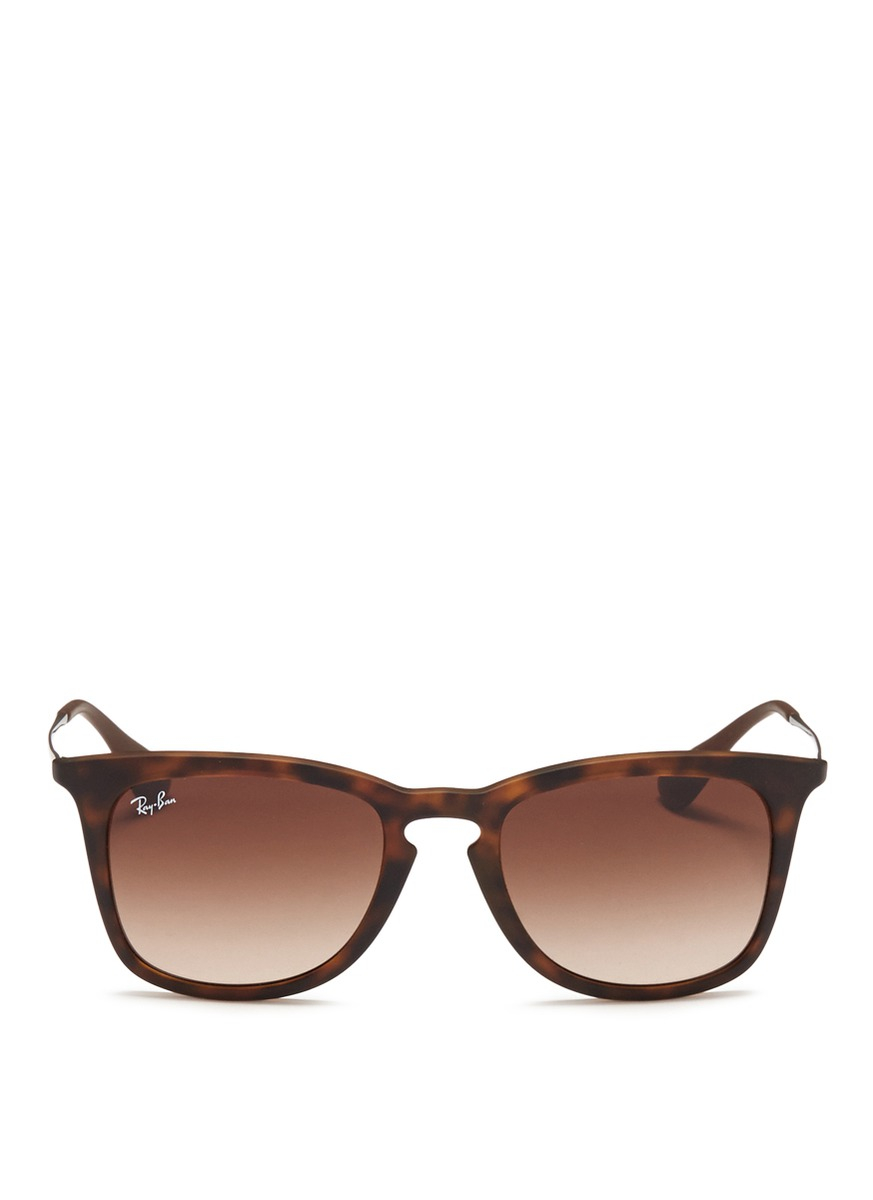 Ray Ban Wireframe Glasses : Ray-ban rb4221 Rubberised Frame Wire Temple Sunglasses ...