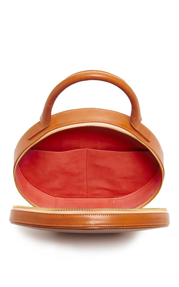 Navy Leather Circle Bag Mansur Gavriel oyXi2