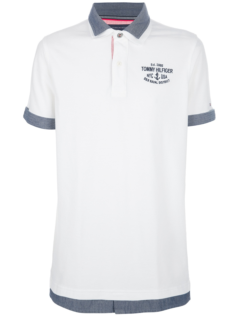 fdcc98e0 Tommy Hilfiger Polo Shirt in White for Men - Lyst