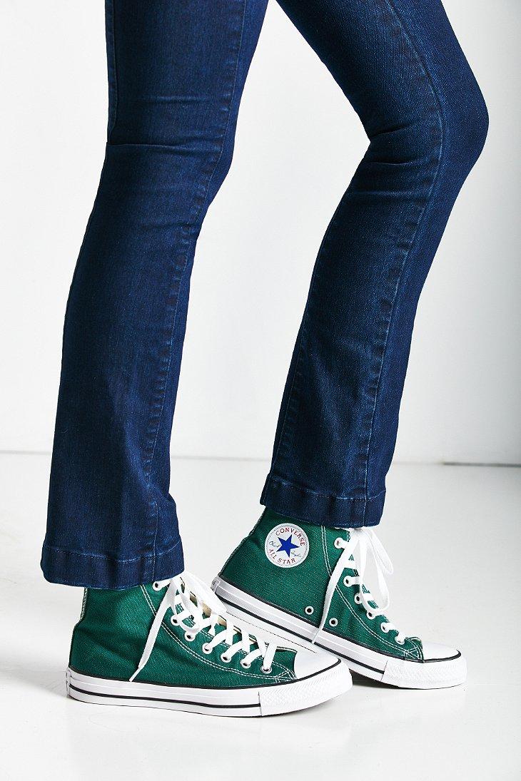 converse all star high top green