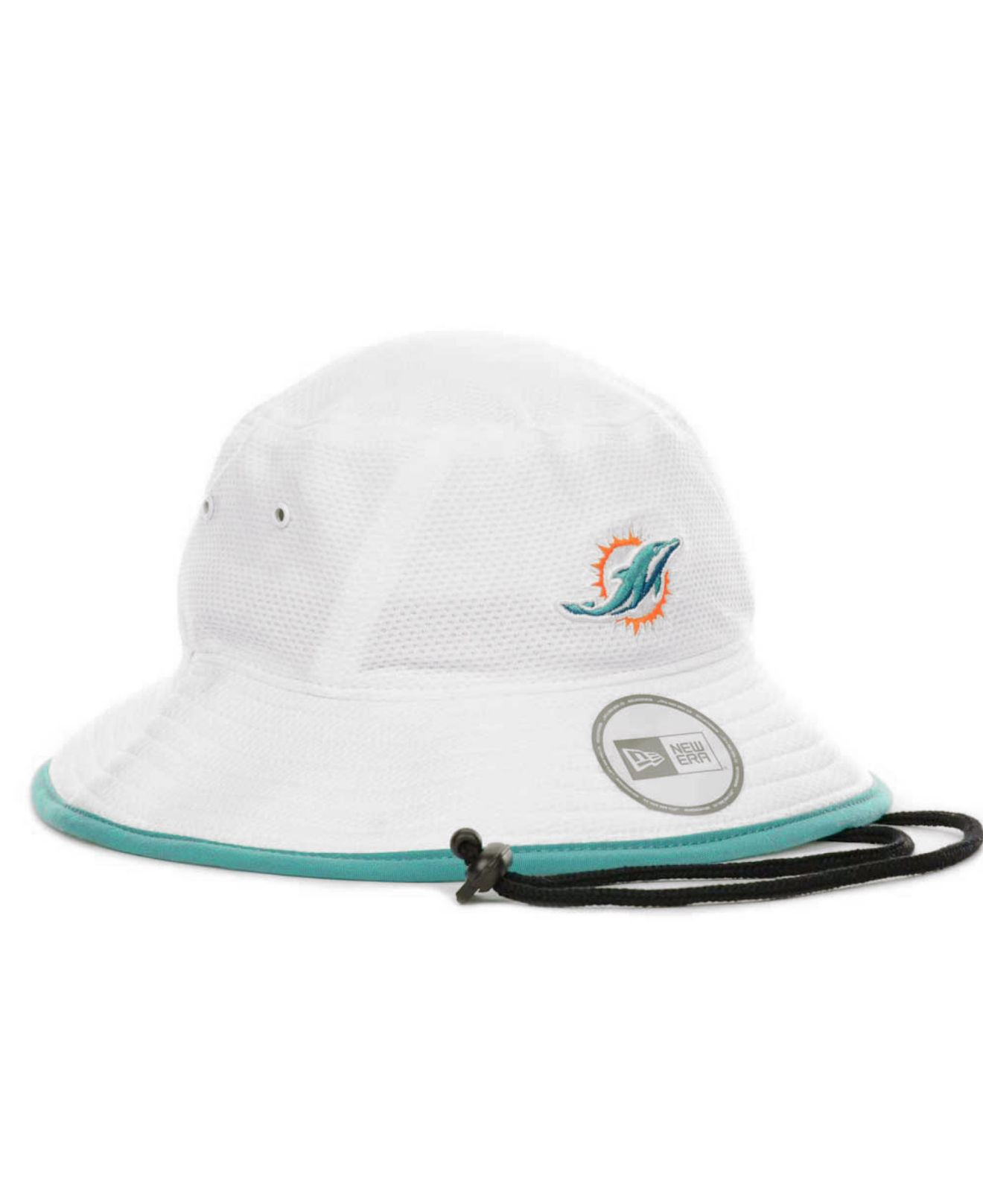 d0eff4c0a9c Lyst - KTZ Miami Dolphins Training Camp Bucket Hat in White
