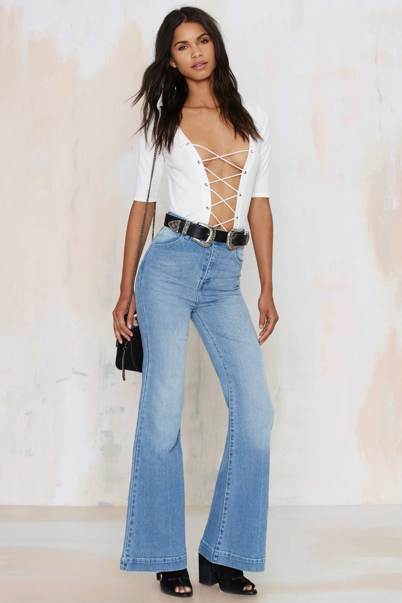 Nasty gal Rolla's Eastcoast High-waisted Flare Jeans in Blue | Lyst