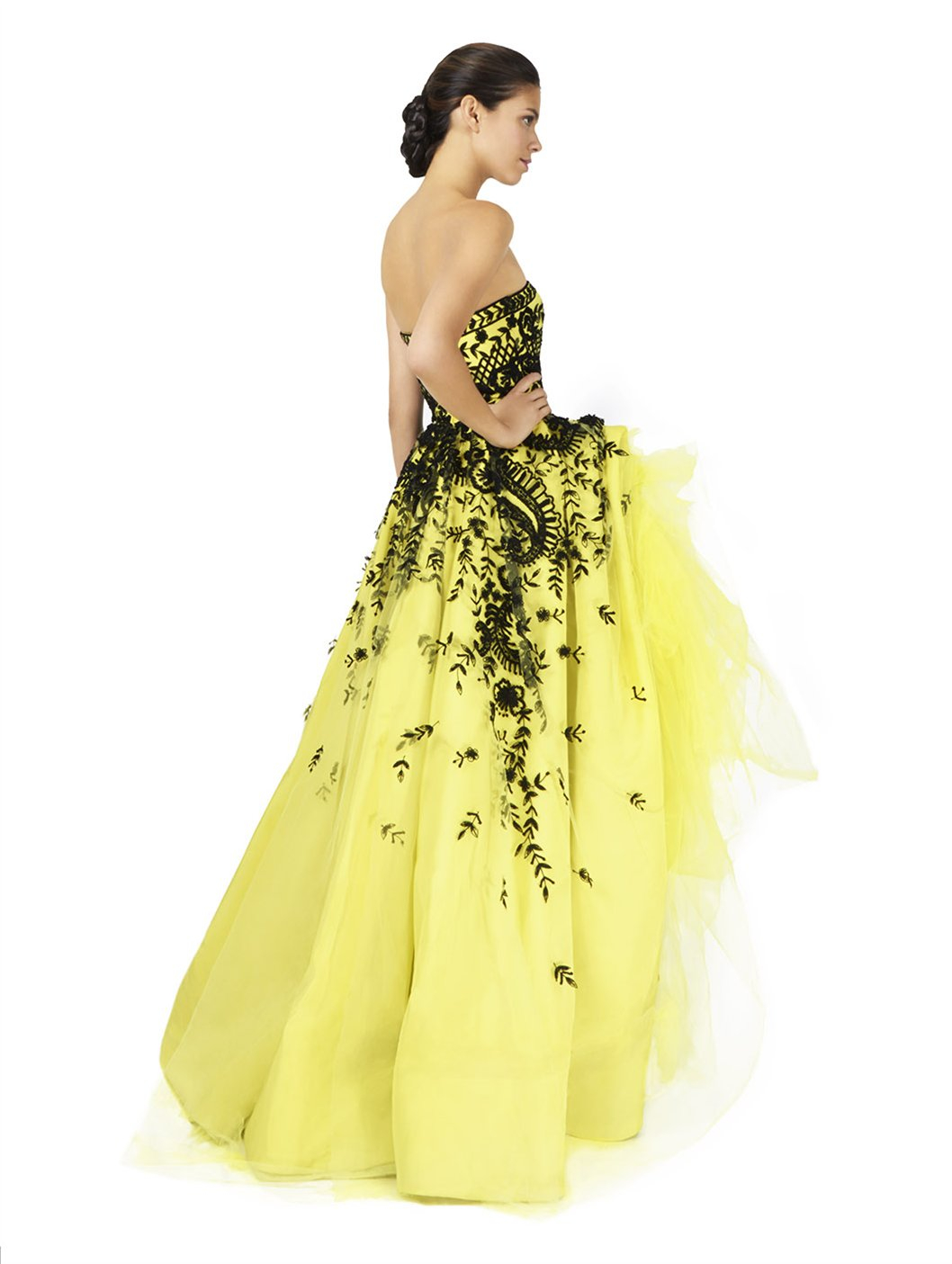 Enchanting Black And Yellow Evening Gown Frieze - Best Evening Gown ...