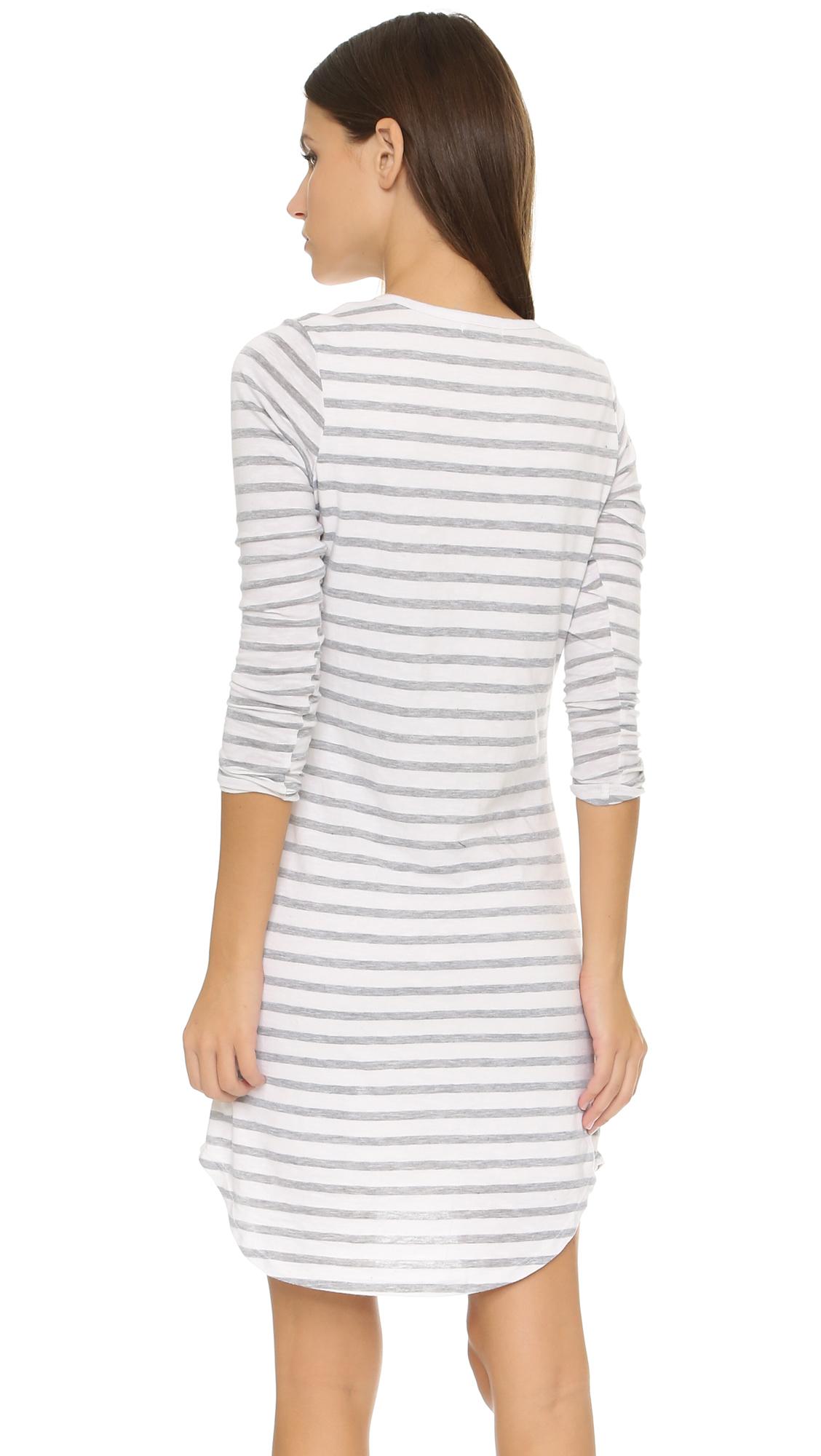 18cdbb62c45aa Sundry Long Sleeve Pocket Dress in White - Lyst