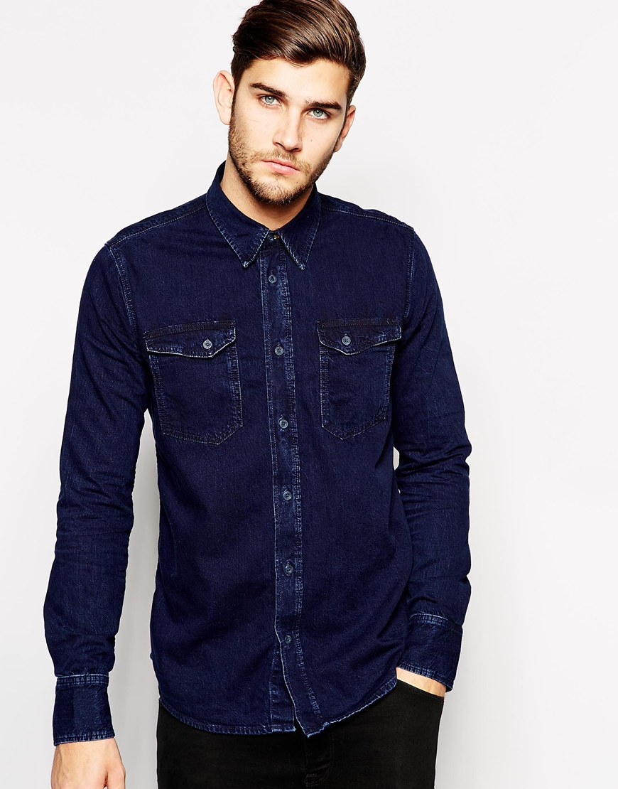 Find dark wash denim shirt mens at ShopStyle. Shop the latest collection of dark wash denim shirt mens from the most popular stores - all in one.