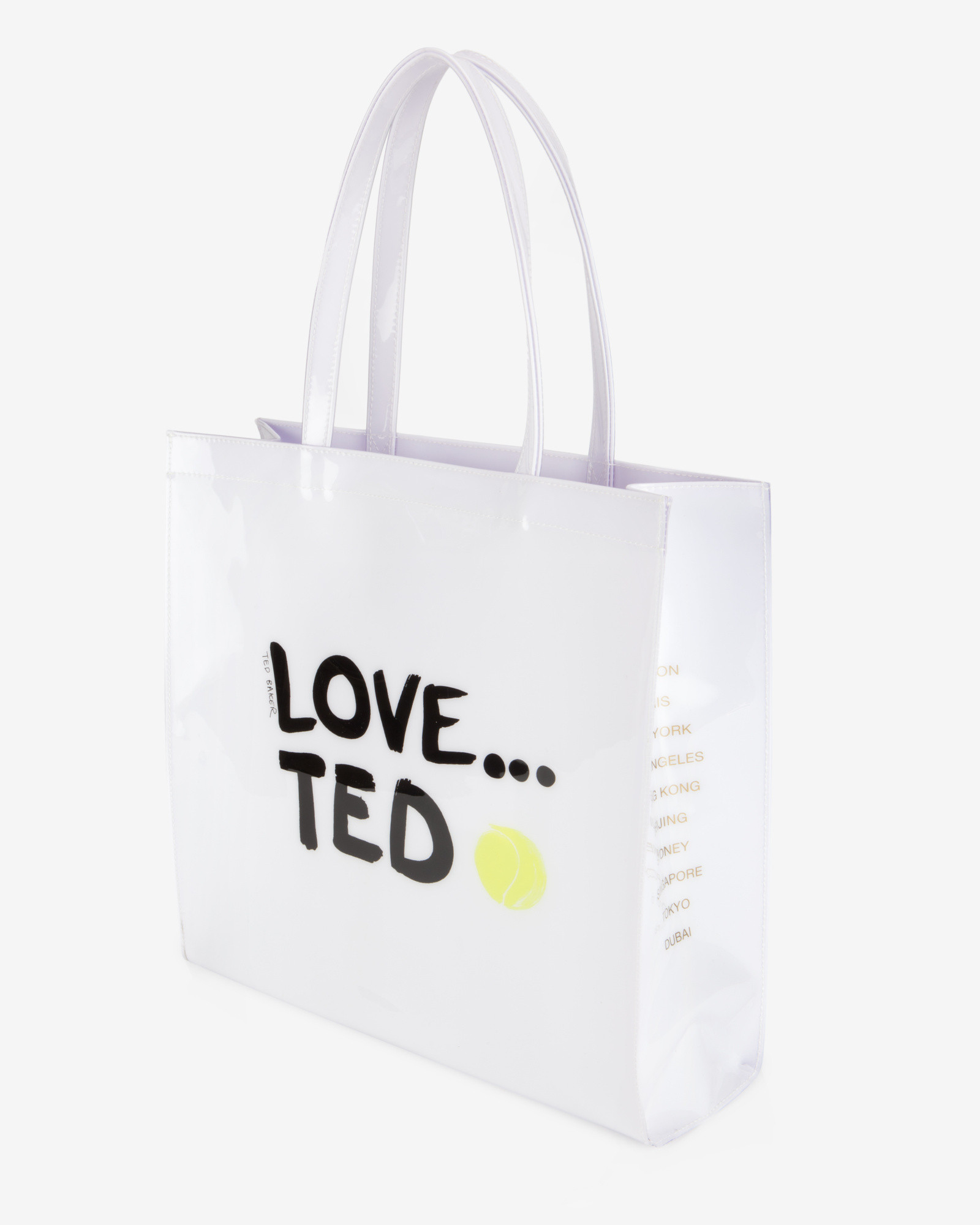528f1f2f04c7d6 Lyst - Ted Baker Large Love Ted Shopper Bag in White
