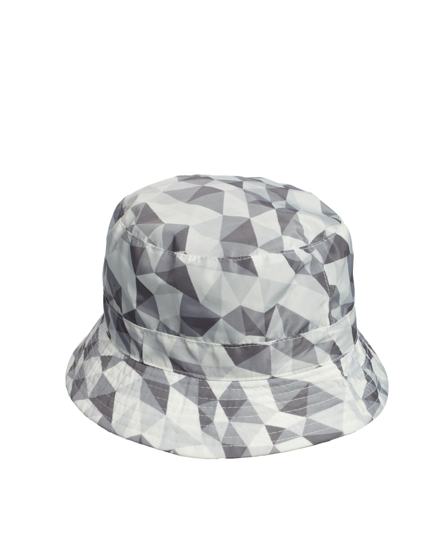 Lyst - ASOS Printed Bucket Hat in Gray for Men f60560415e1