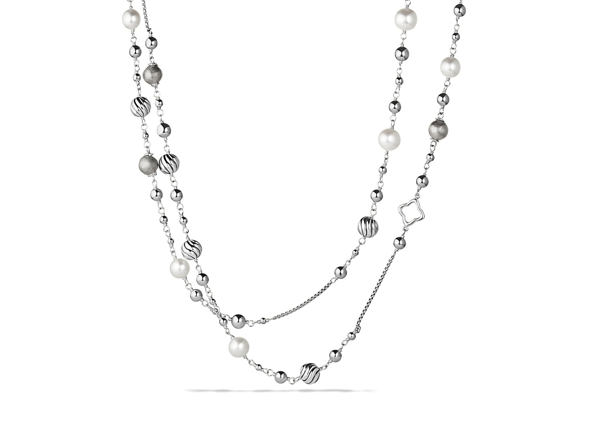 David yurman Infinity Station Necklace With Diamonds in Metallic