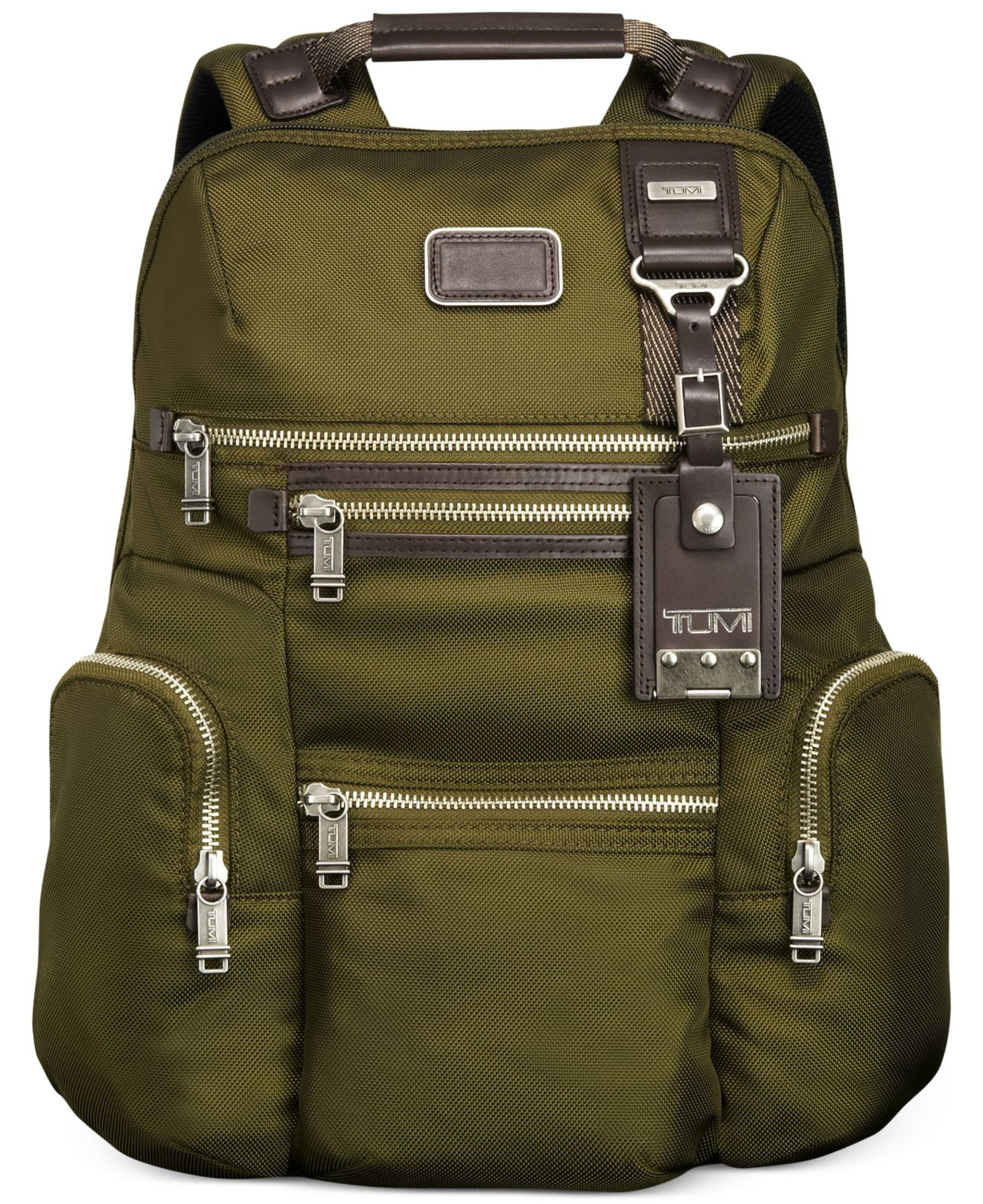 Tumi Alpha Bravo Knox Backpack in Green for Men | Lyst