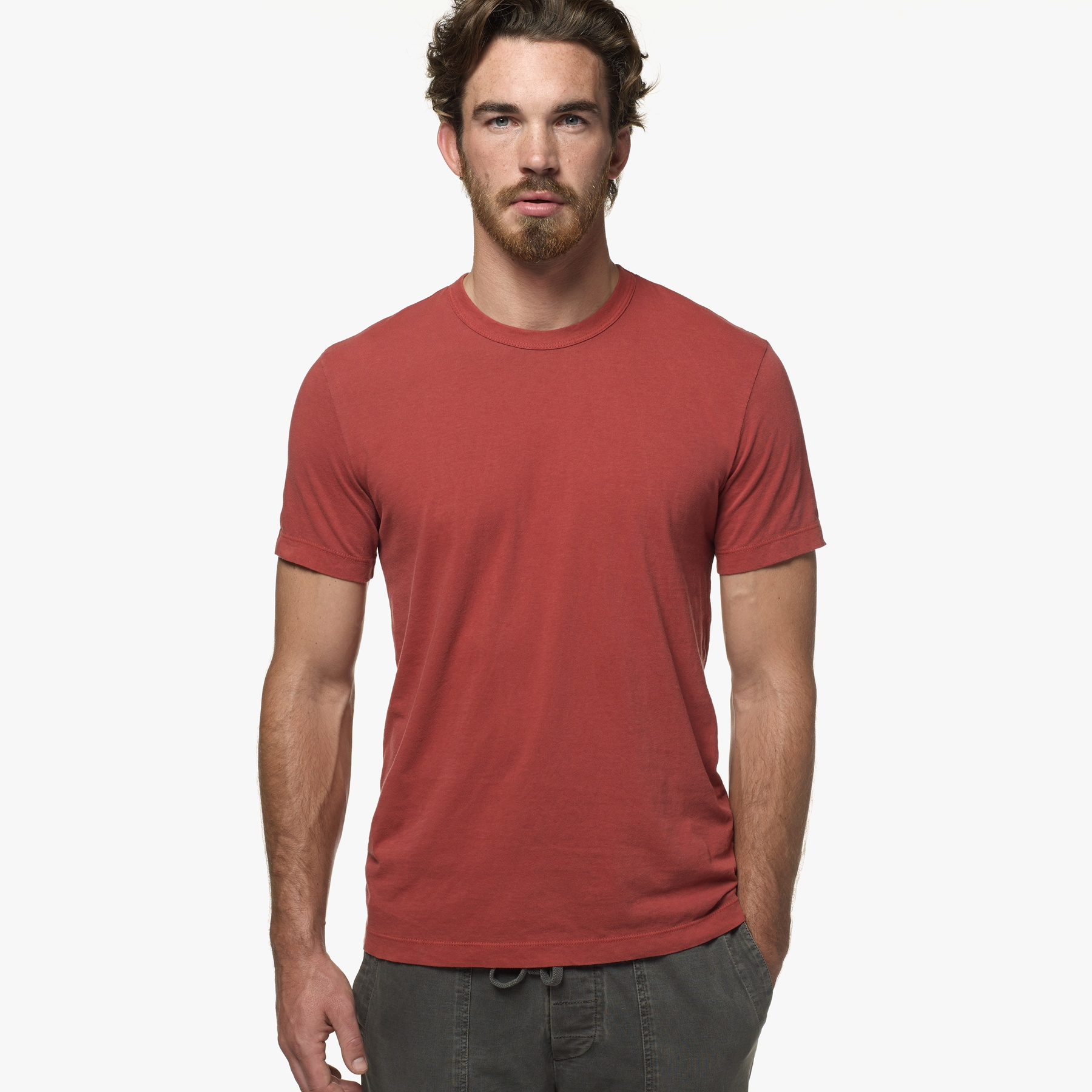 87036a762 James Perse Short Sleeve Crew Neck in Red for Men - Lyst