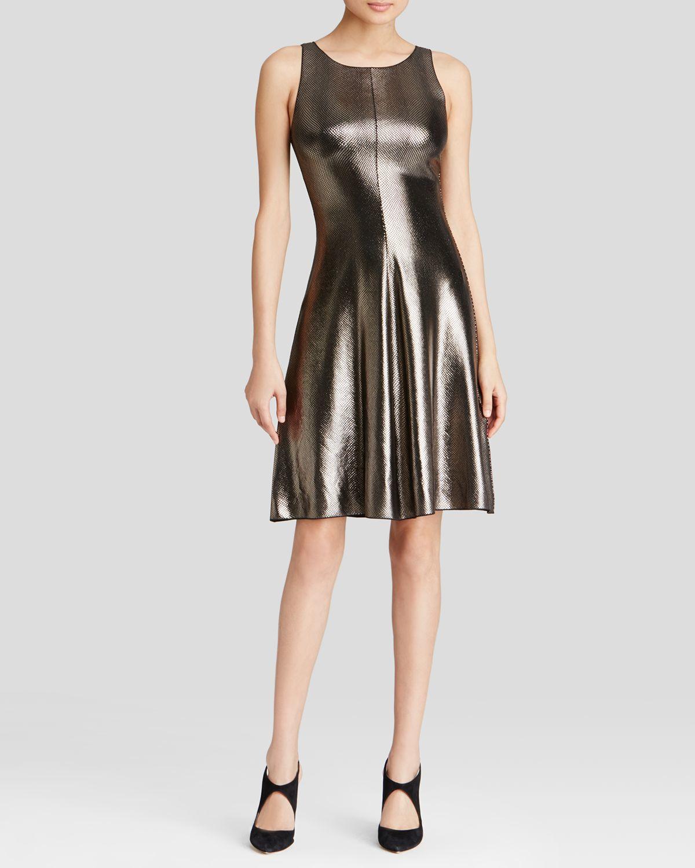 Armani Dress Metallic In Metallic Lyst