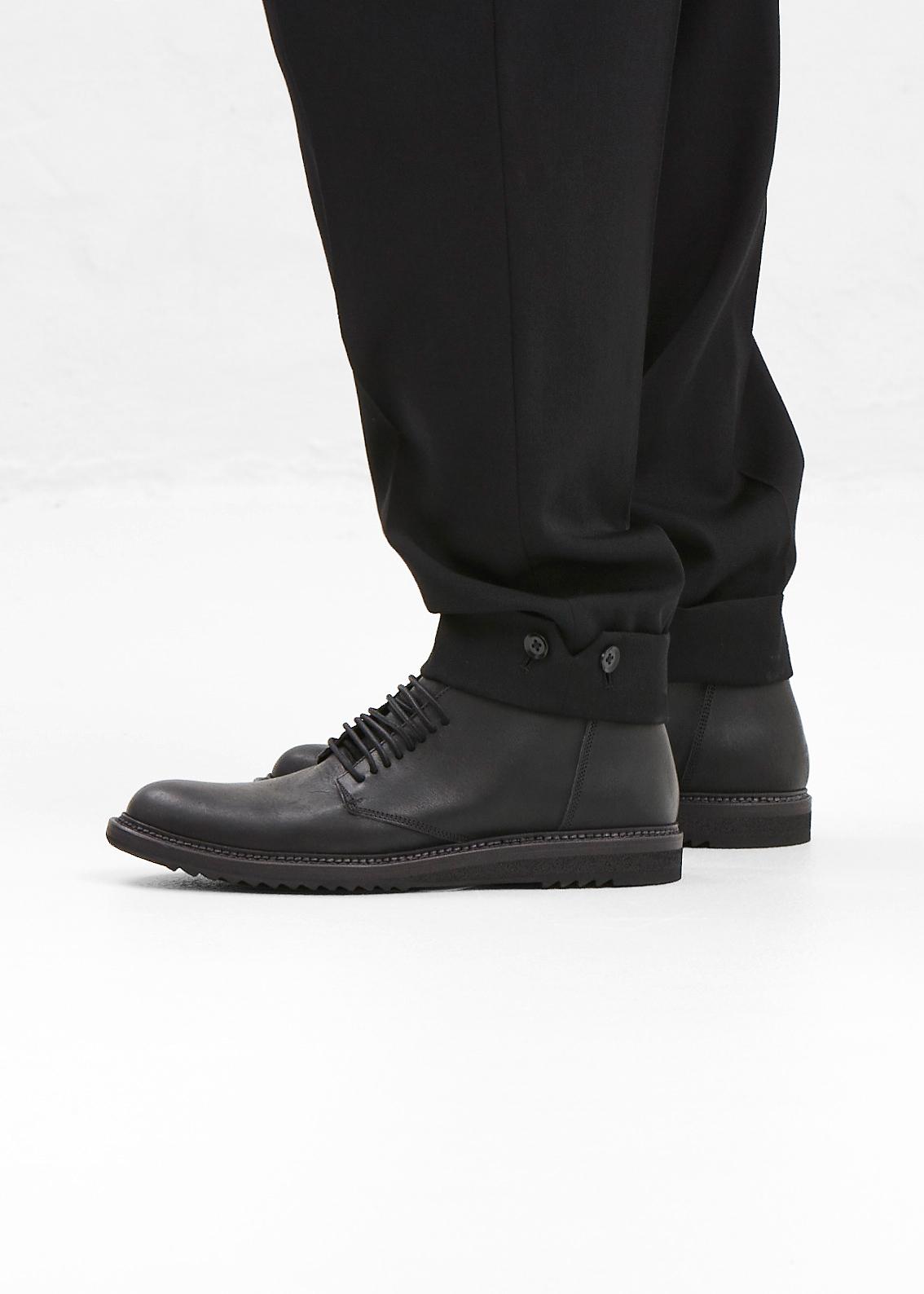 Rick Owens Black Slim Para Chukka Boots