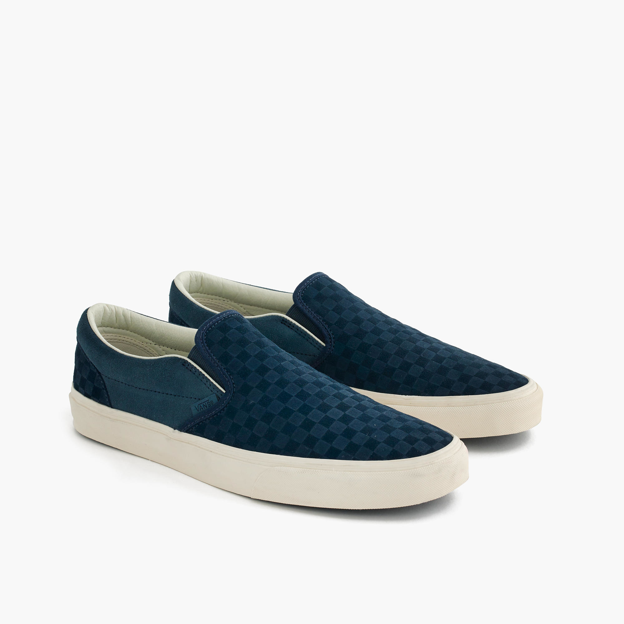 blue checkerboard vans shoes